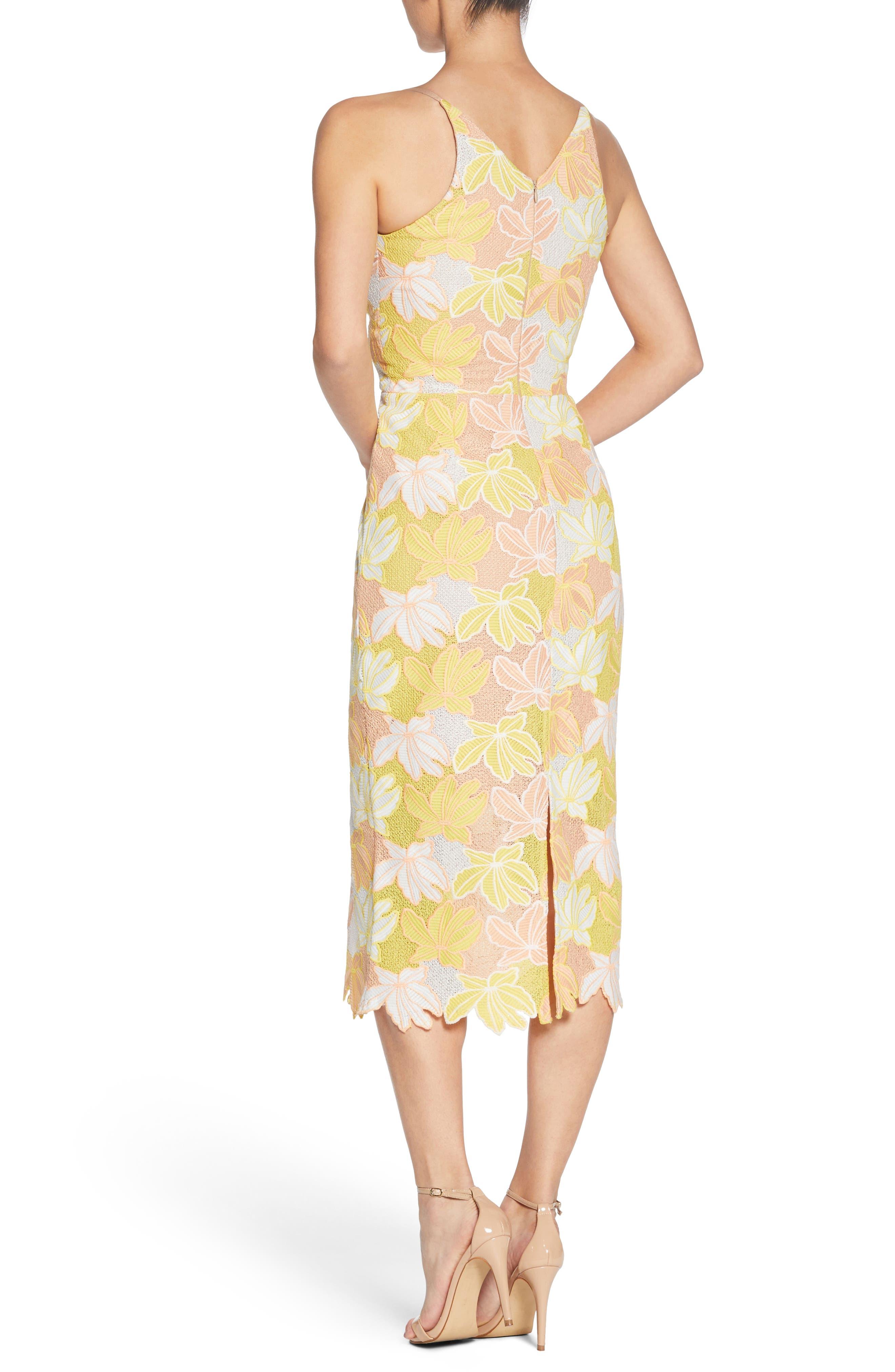 Aurora Lace Midi Dress,                             Alternate thumbnail 2, color,                             745