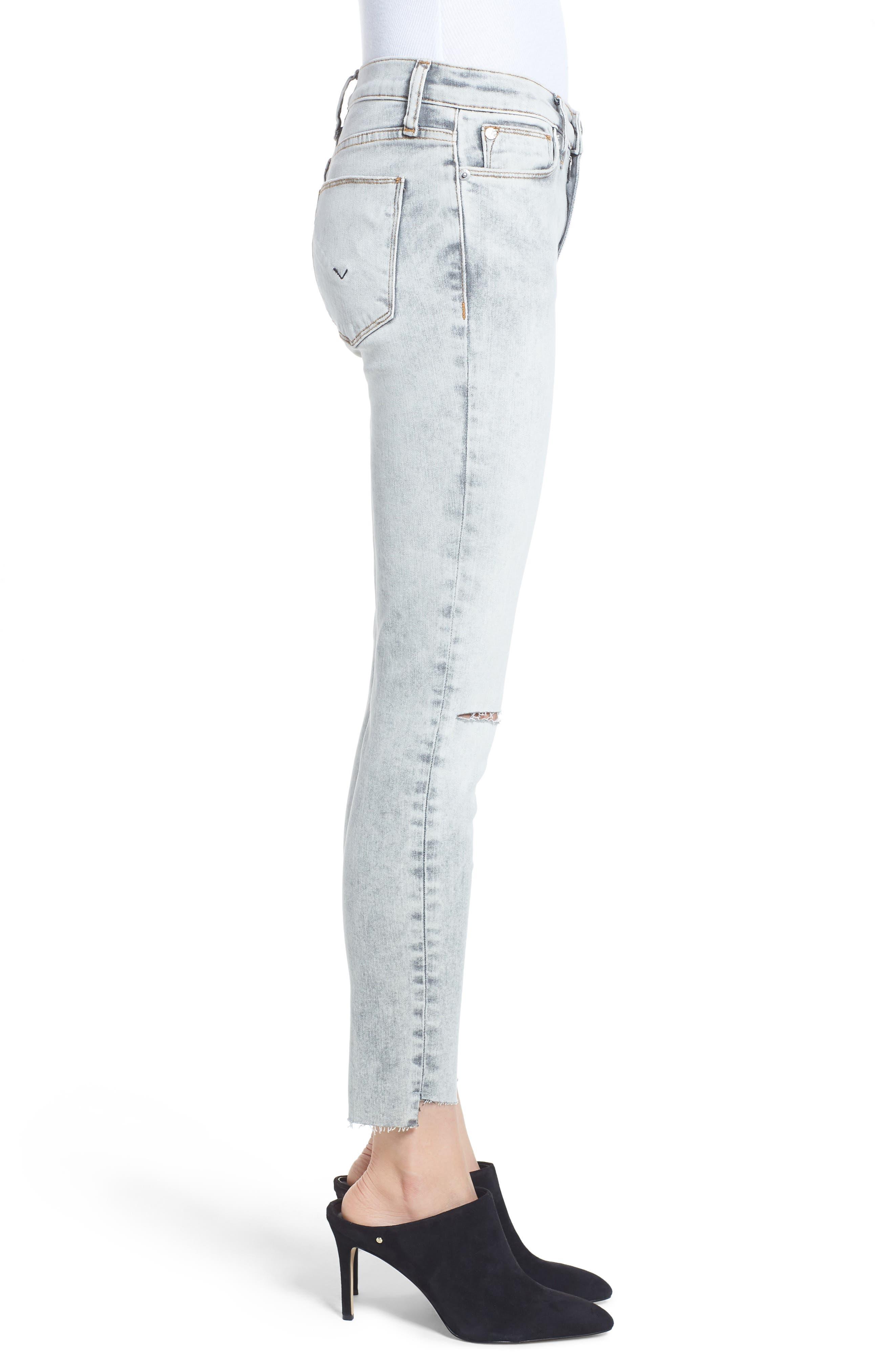 Nico Crop Step Hem Super Skinny Jeans,                             Alternate thumbnail 3, color,                             SAY THE WORD