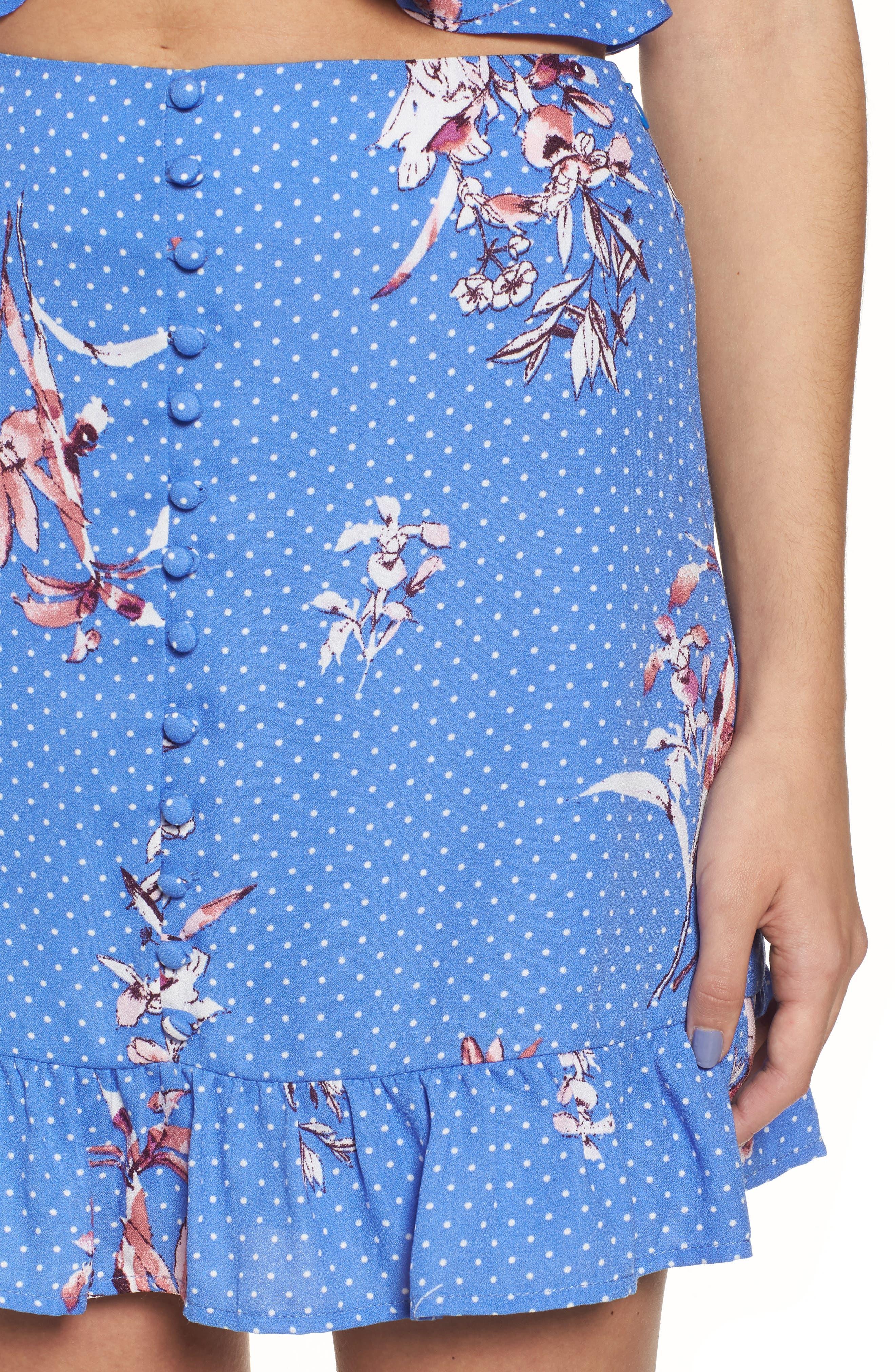 Vanessa Ruffle Hem Skirt,                             Alternate thumbnail 4, color,                             430