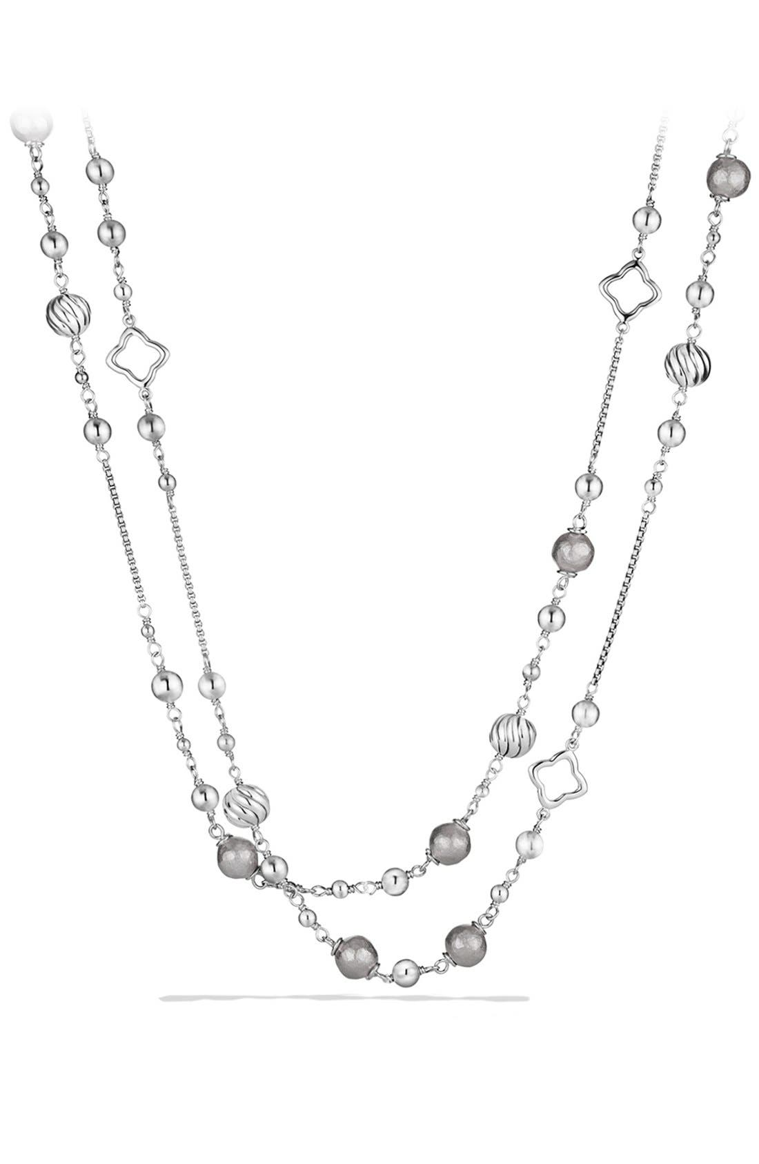 'DY Elements' Chain Necklace,                             Main thumbnail 1, color,                             SILVER