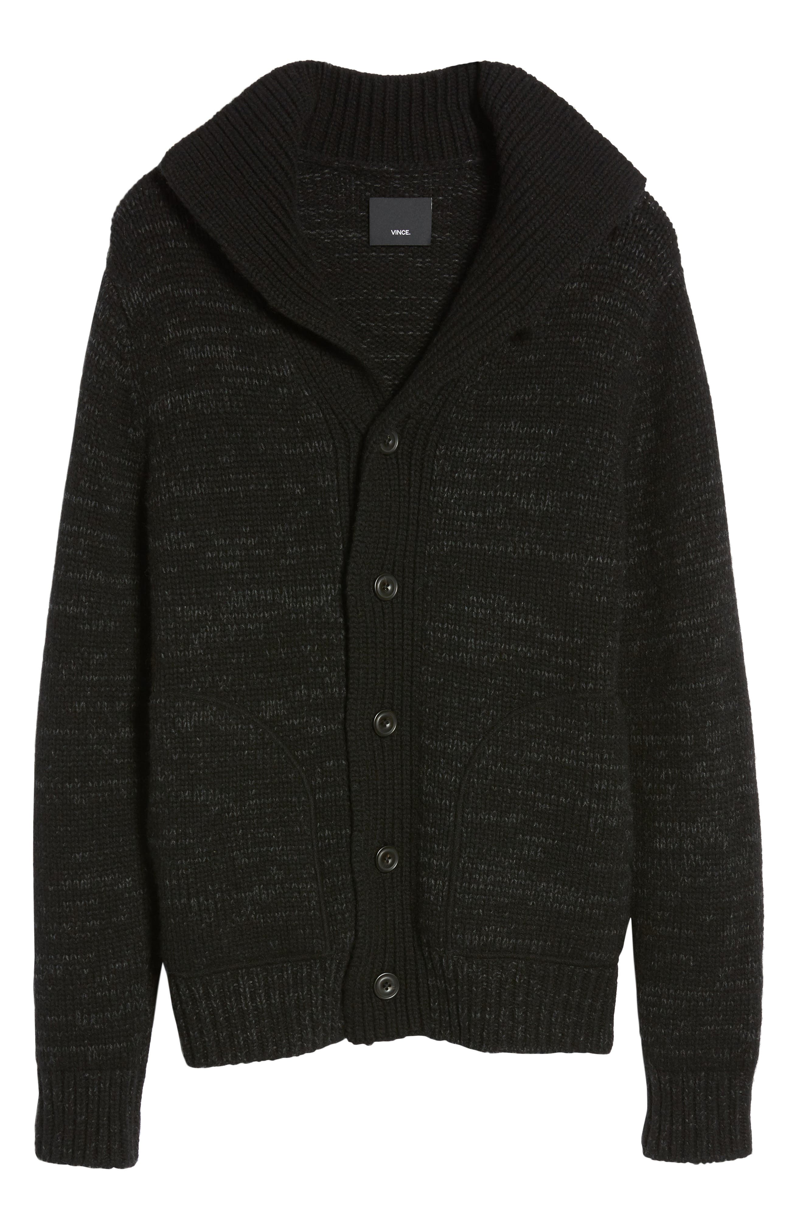 Marled Stand Collar Cardigan,                             Alternate thumbnail 6, color,                             002