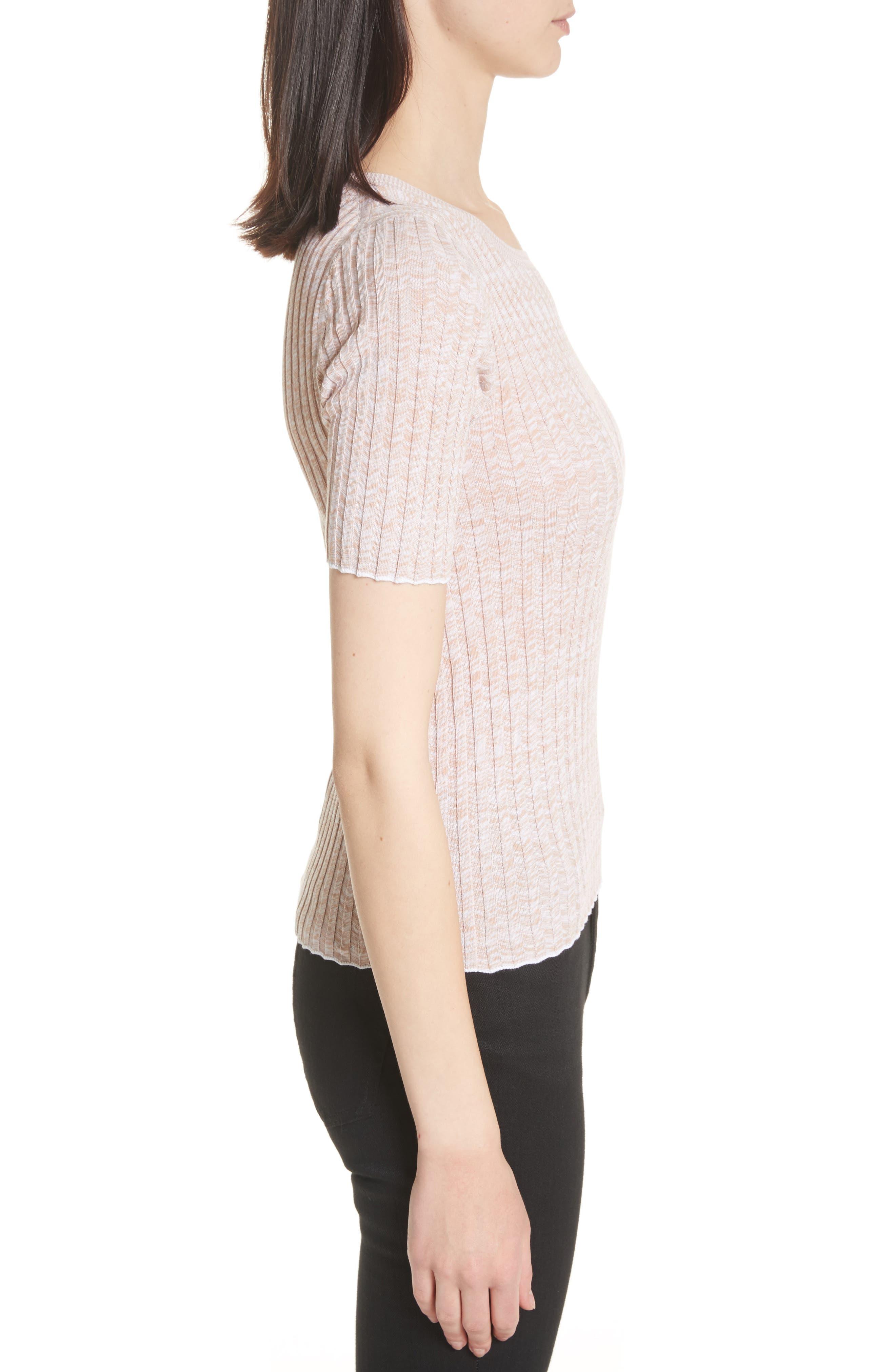 Marled Rib Knit Crewneck Sweater,                             Alternate thumbnail 6, color,