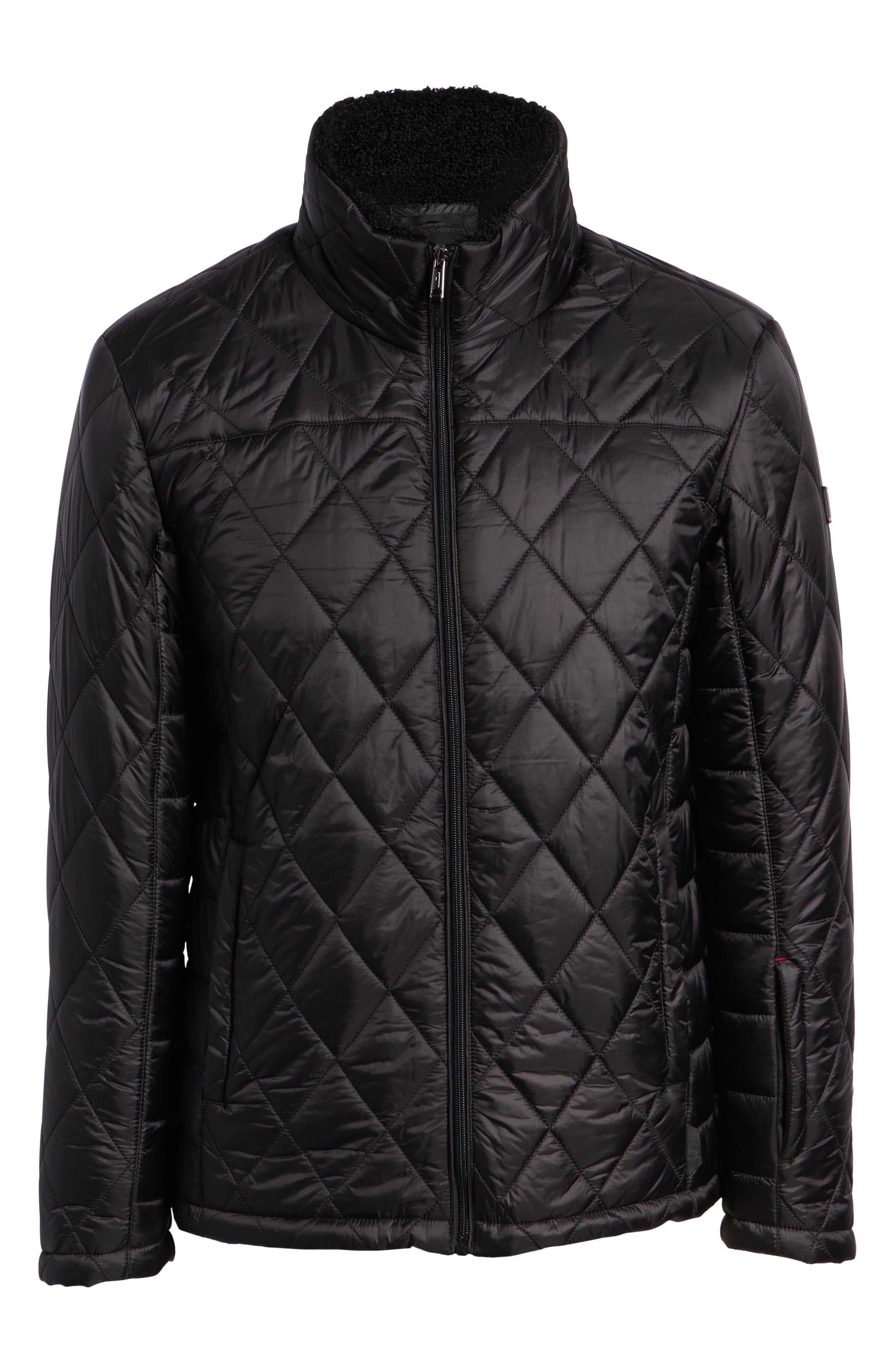 Transit Quilted Jacket,                             Alternate thumbnail 6, color,                             BLACK