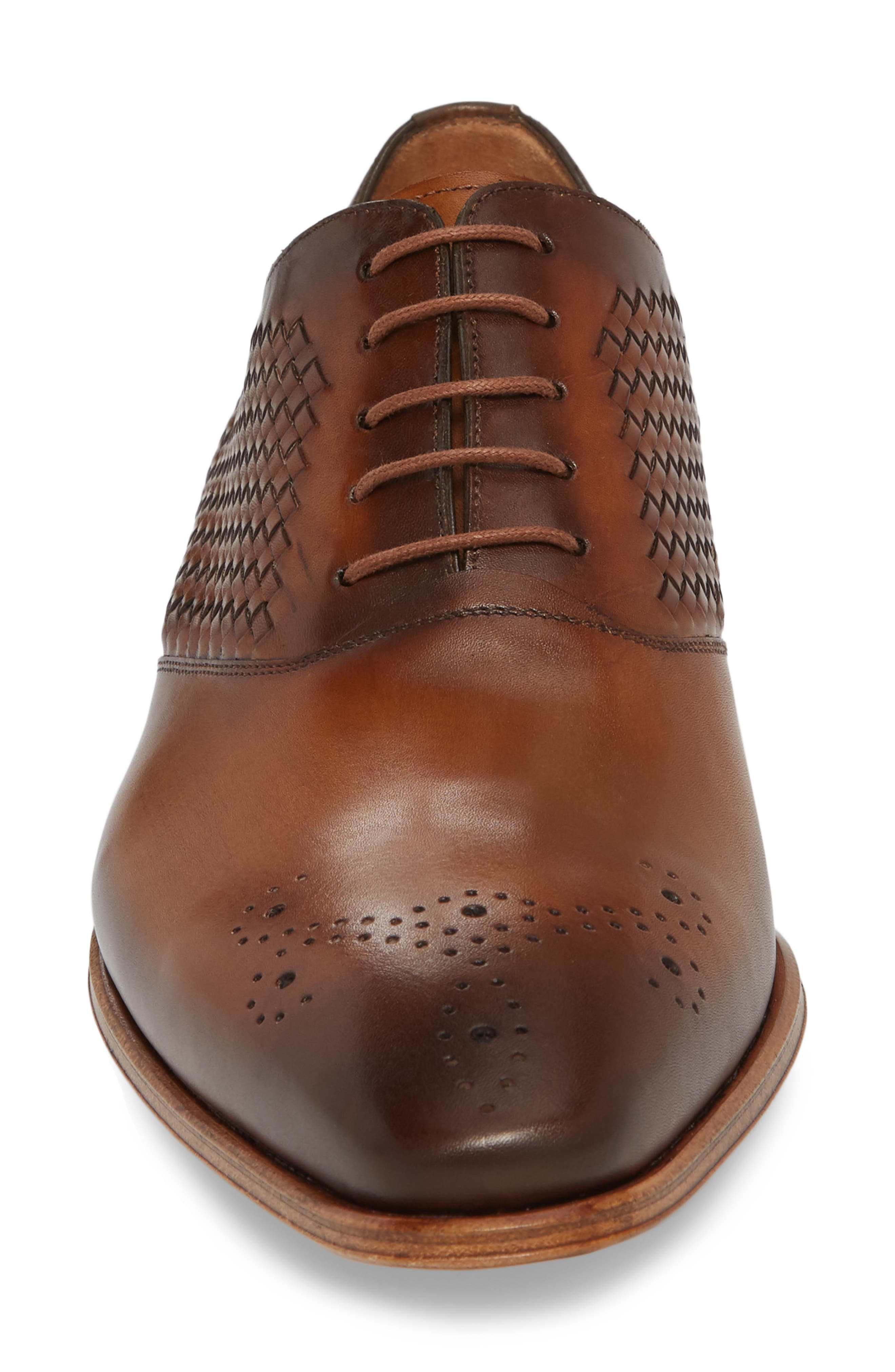 Juventa Woven Oxford,                             Alternate thumbnail 4, color,                             HONEY LEATHER