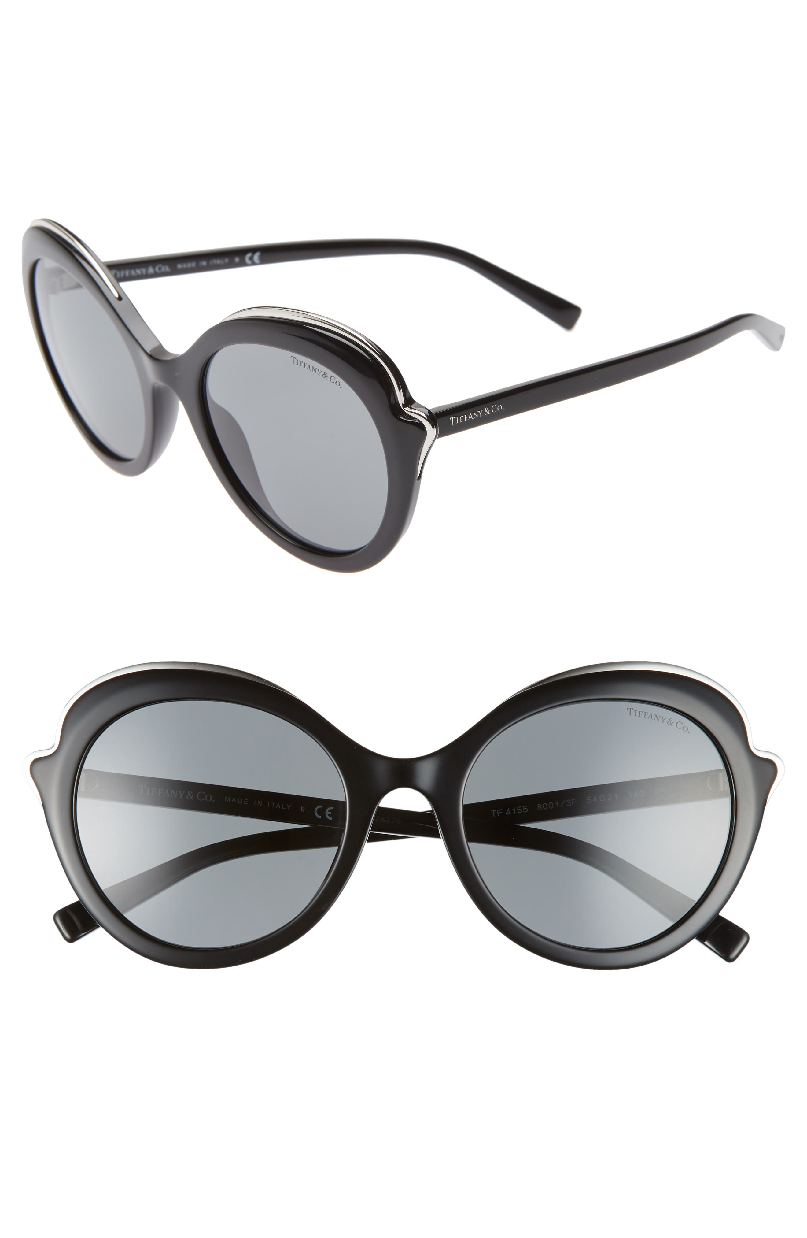 1aa902a6b04 Women s Tiffany   Co. Paper Flowers 54Mm Round Sunglasses - Grey Solid