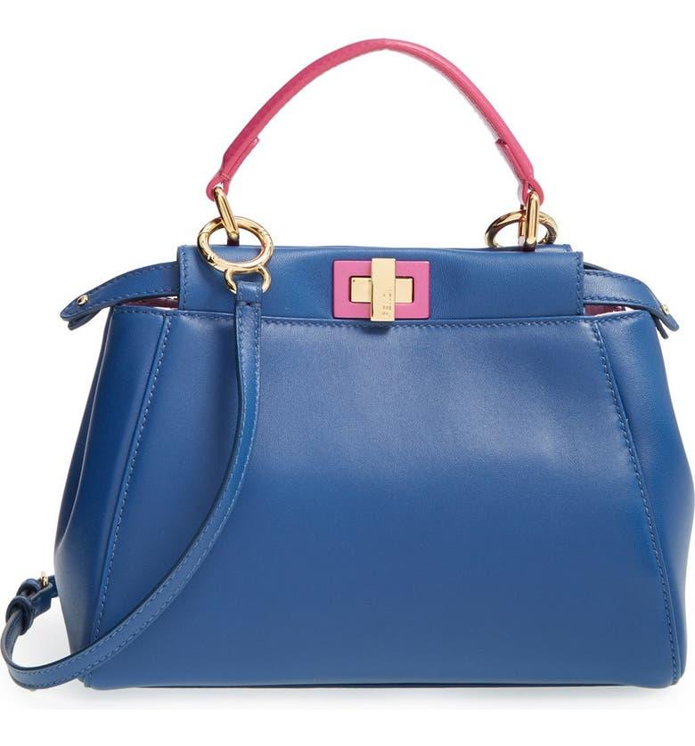 36260621c6 Fendi  Mini Peekaboo  Nappa Leather Bag