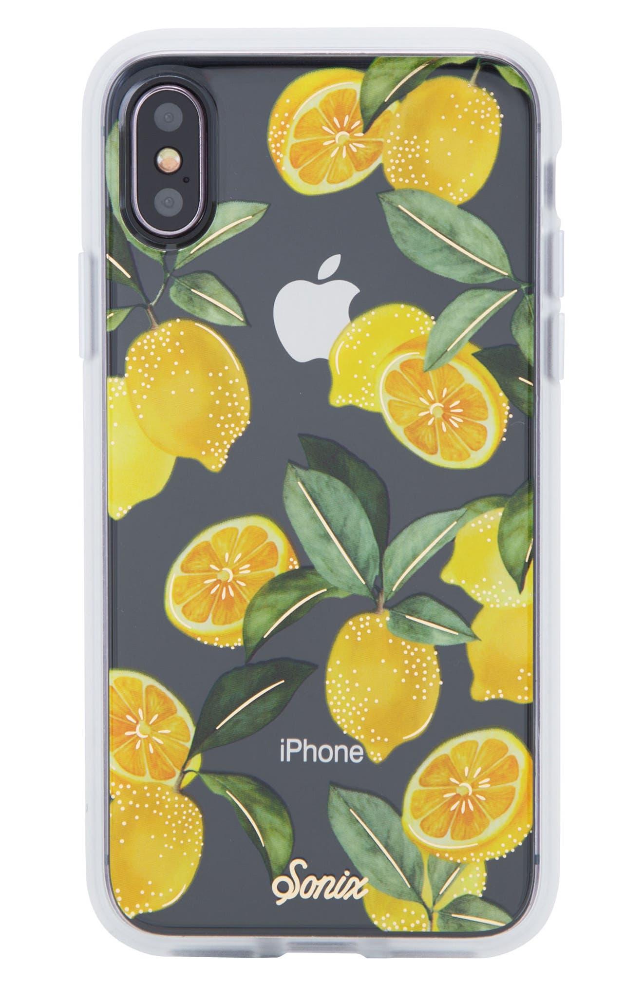 Lemon Zest iPhone X Case,                             Main thumbnail 1, color,