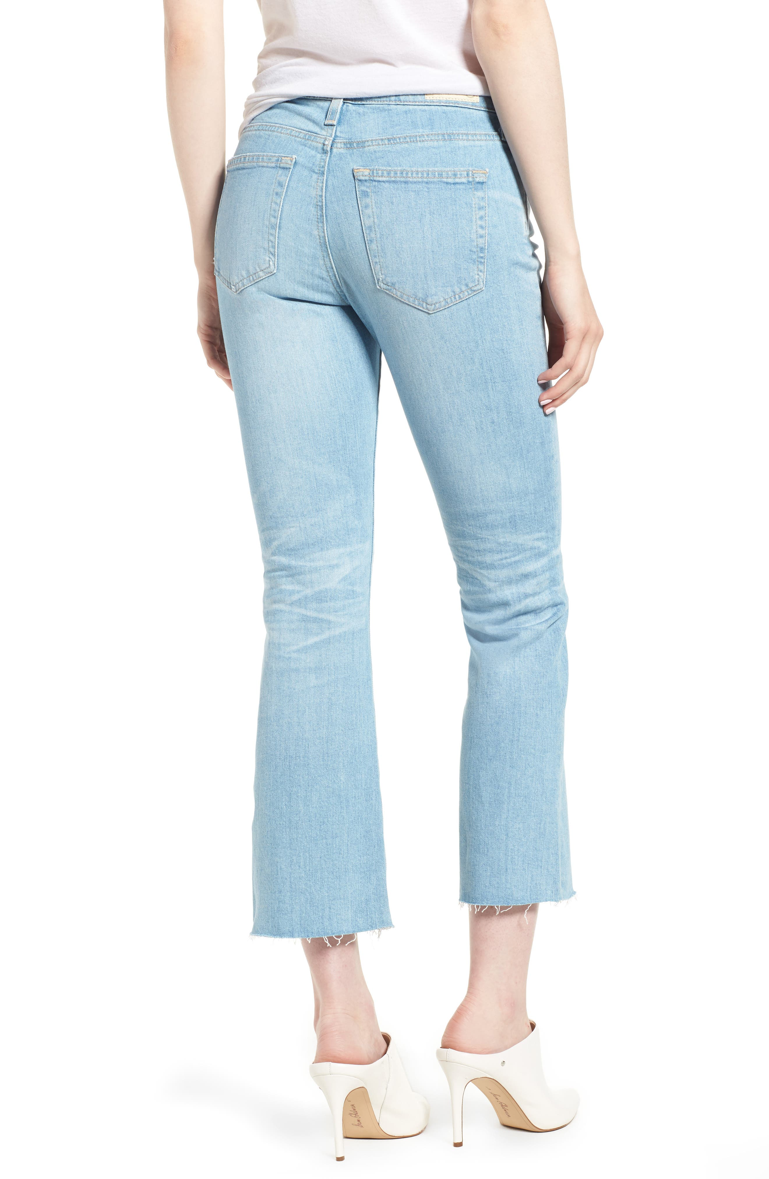 Jodi Crop Flare Jeans,                             Alternate thumbnail 2, color,                             496