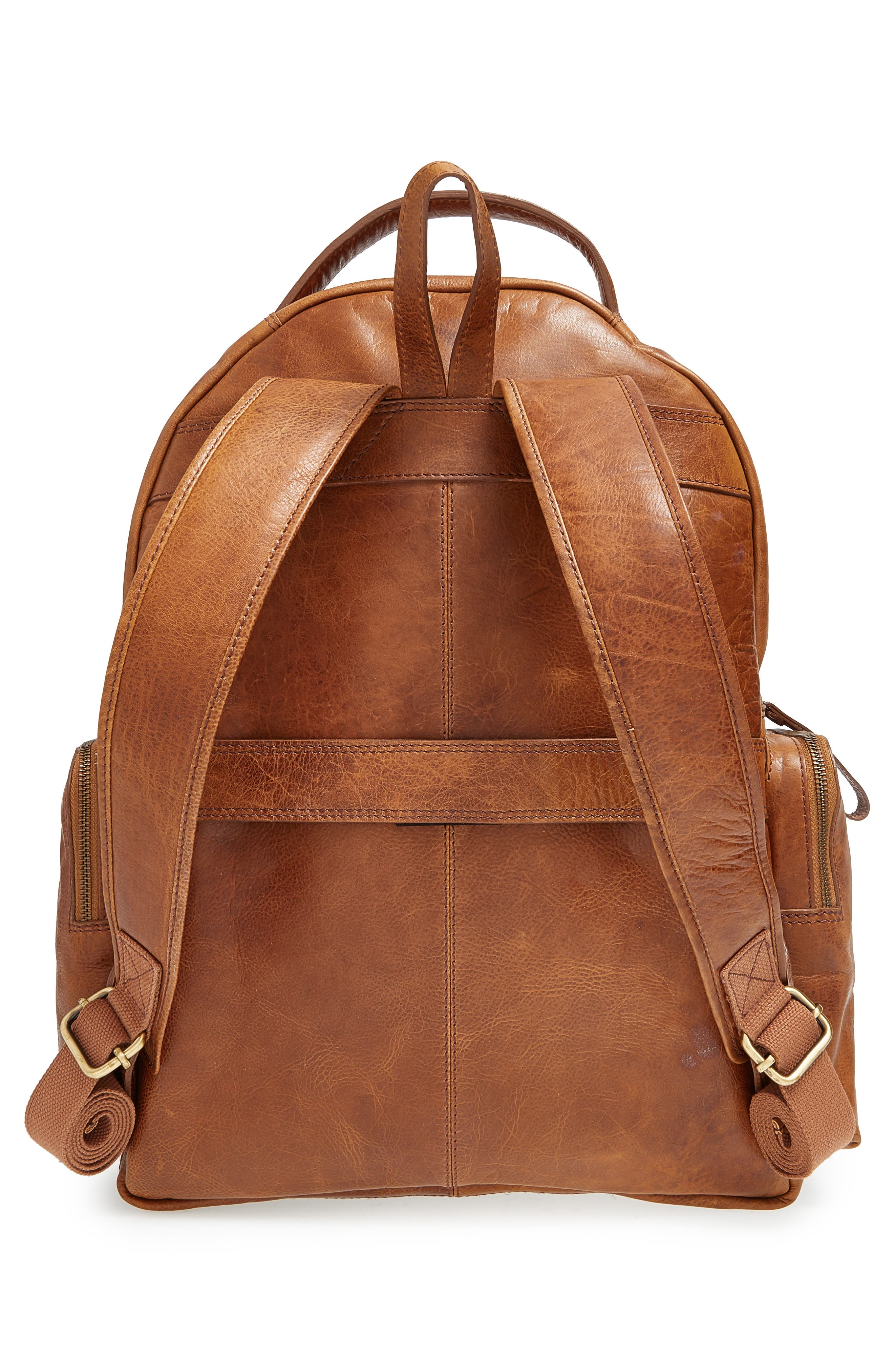 'Rugged' Leather Backpack,                             Alternate thumbnail 5, color,                             202