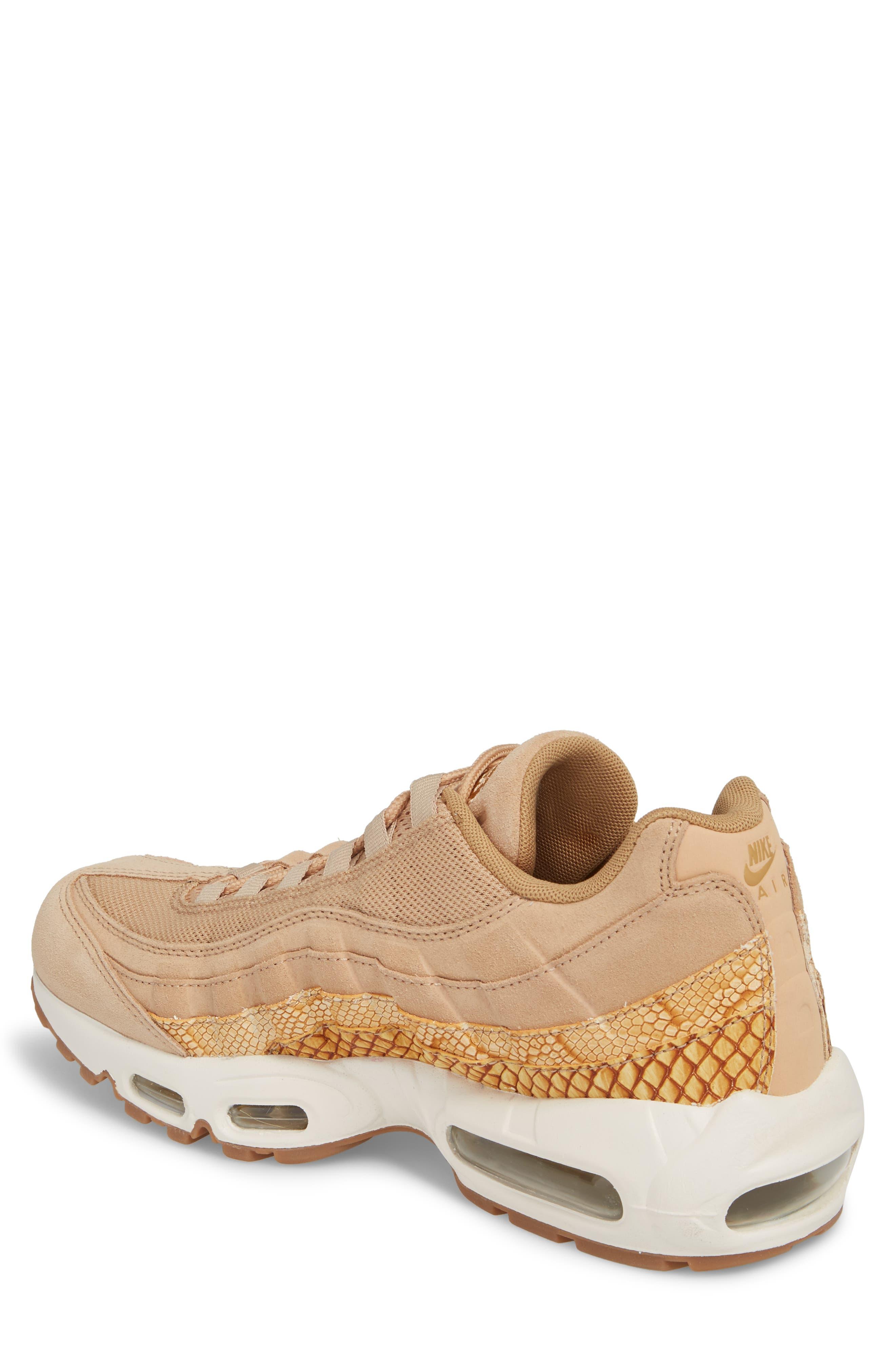 Air Max 95 Premium SE Sneaker,                             Alternate thumbnail 2, color,                             TAN/ TAN/ ELEMENTAL GOLD