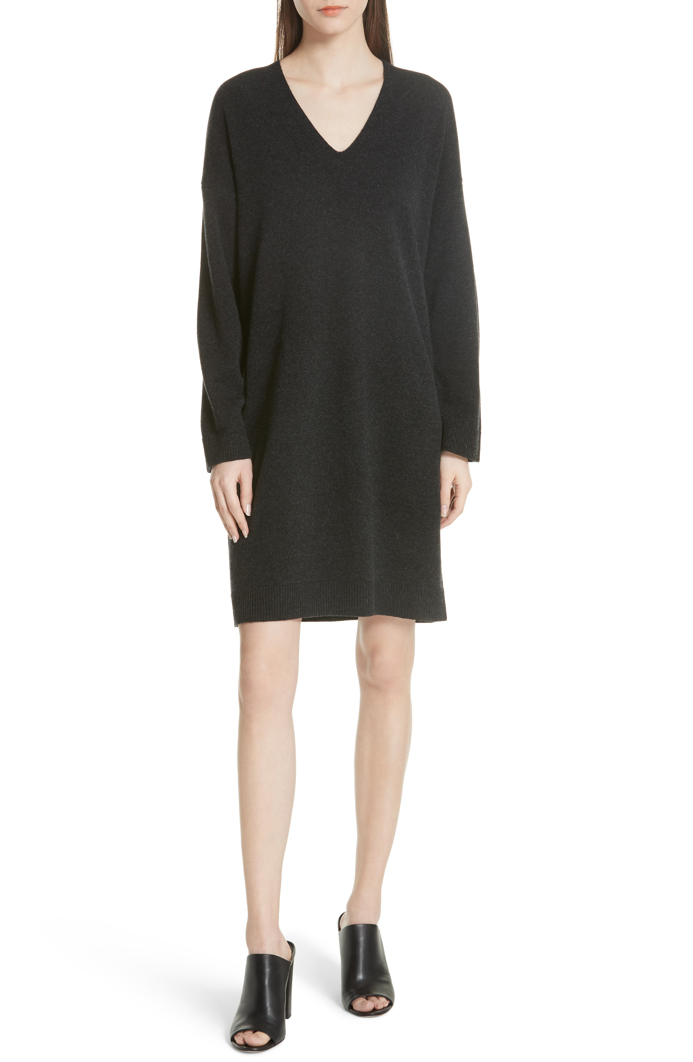 Wool & Cashmere Cocoon Dress,                             Main thumbnail 1, color,                             065