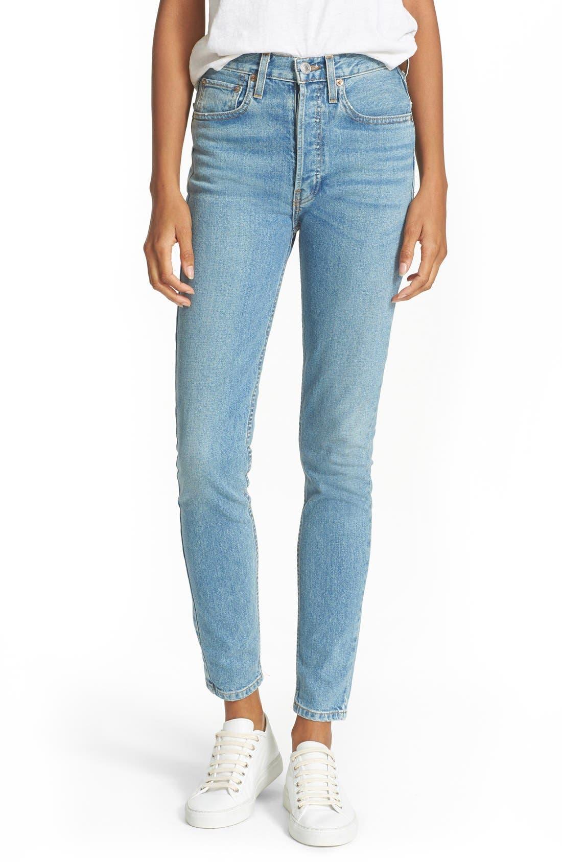 Originals High Rise Stretch Jeans,                         Main,                         color, 400