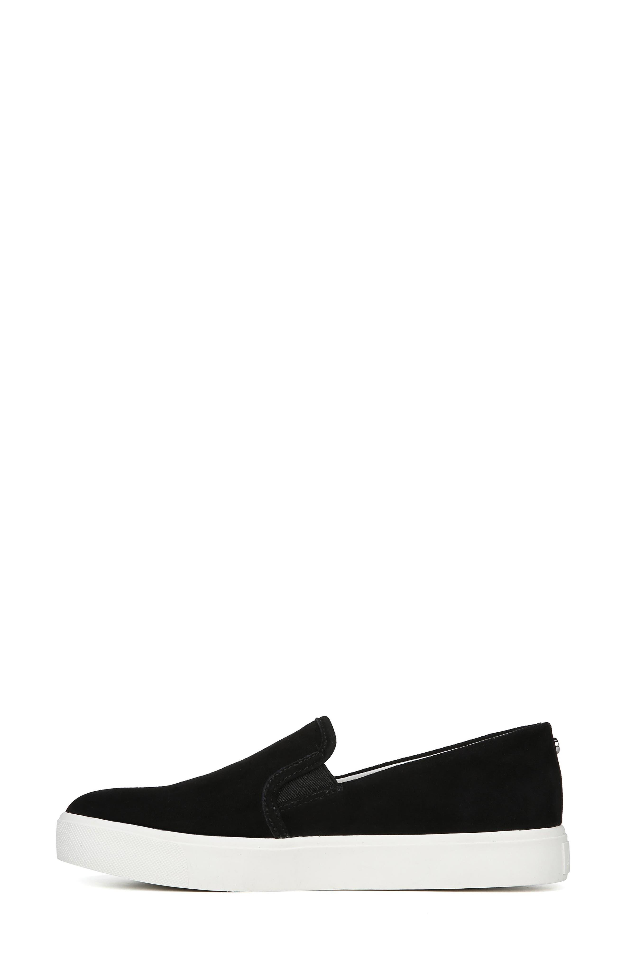 Elton Slip-On Sneaker,                             Alternate thumbnail 8, color,                             BLACK SUEDE LEATHER