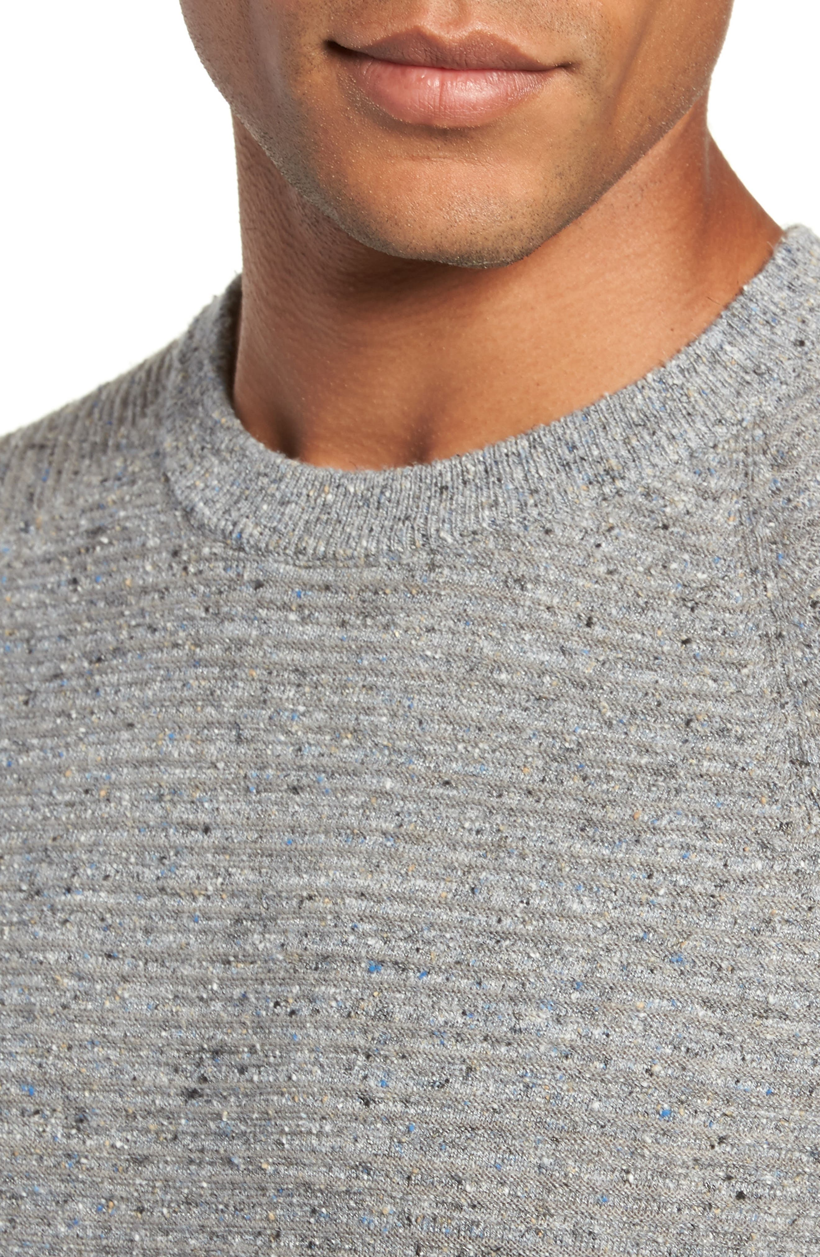 Speckle Stripe Sweater,                             Alternate thumbnail 4, color,                             GREY MIX