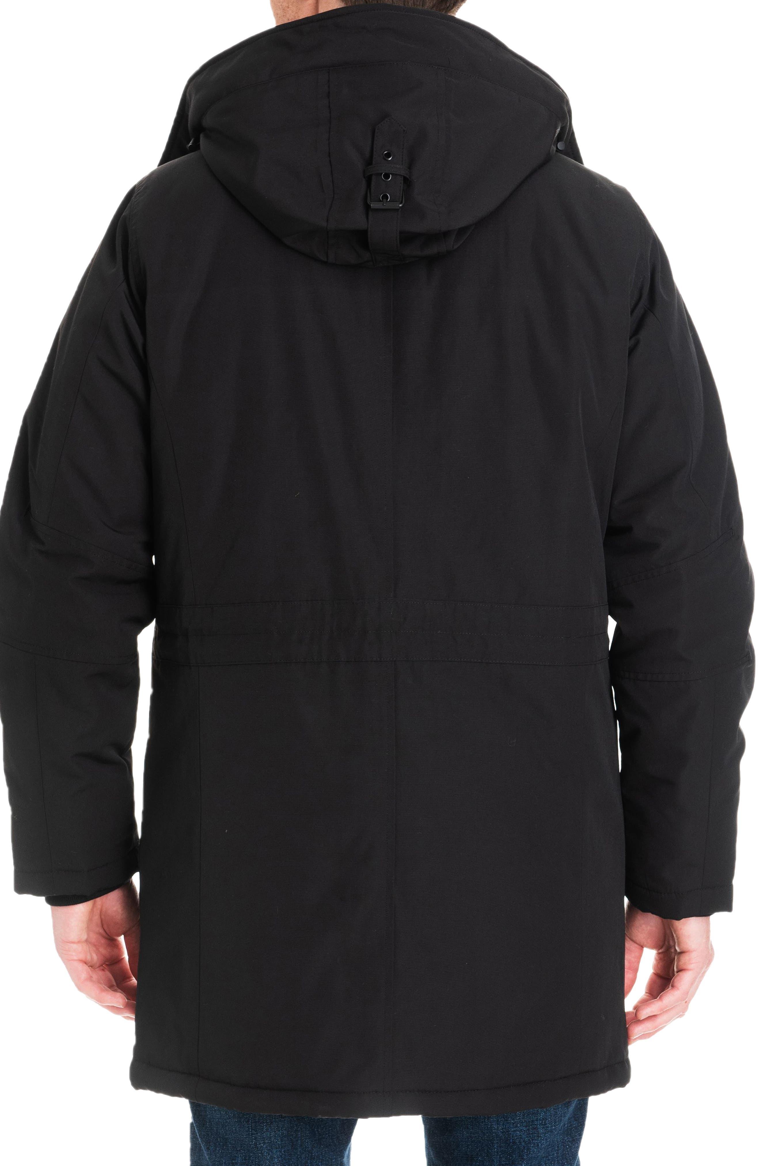 Gardiner Water Resistant Snorkel Coat,                             Alternate thumbnail 2, color,                             BLACK/ MIDNIGHT