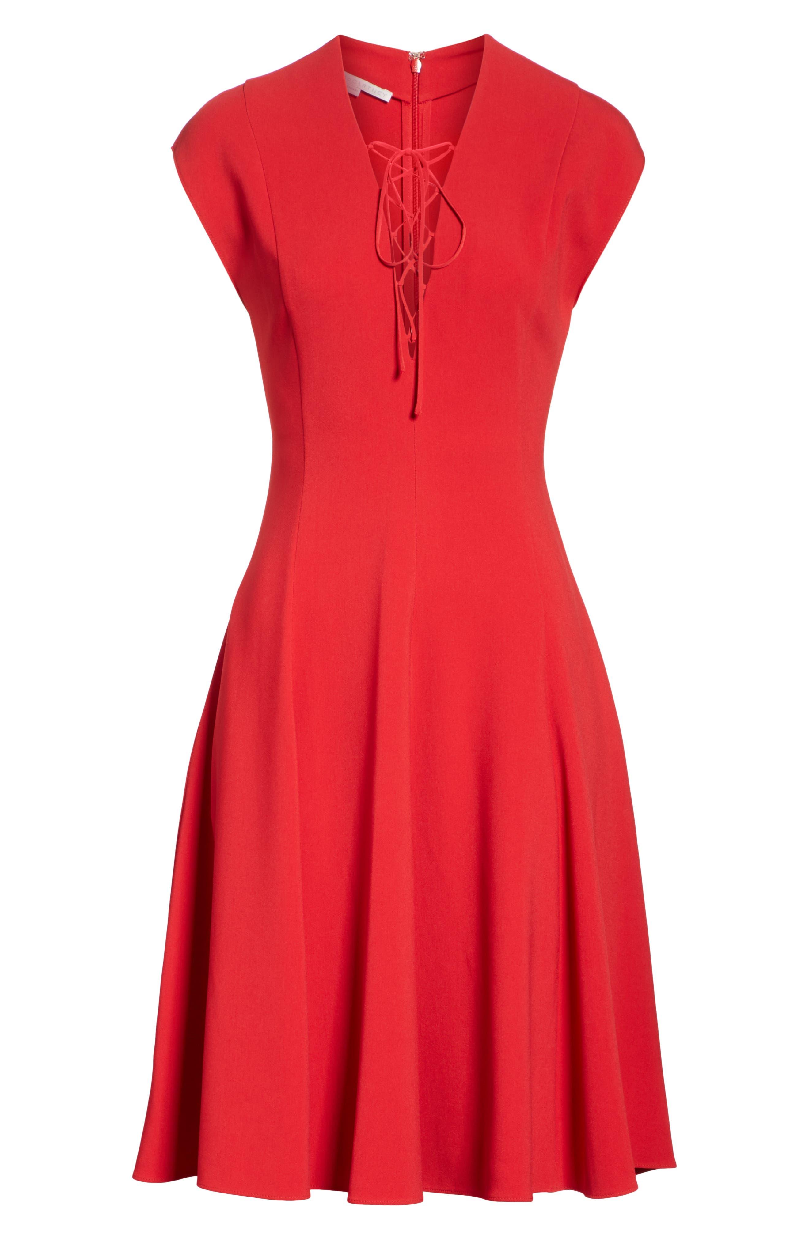 Lace-Up Dress,                             Alternate thumbnail 6, color,                             627