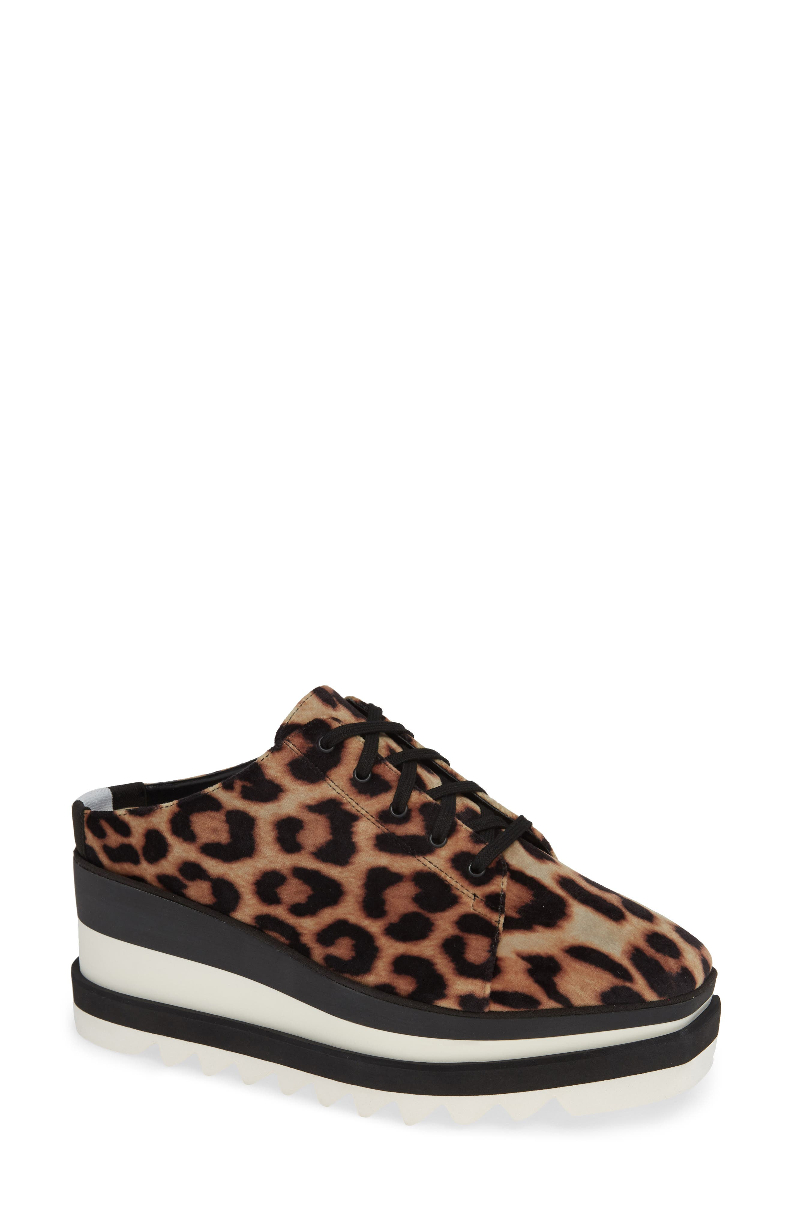 Sneak-Elyse Platform Mule,                             Main thumbnail 1, color,                             LEOPARD PRINT