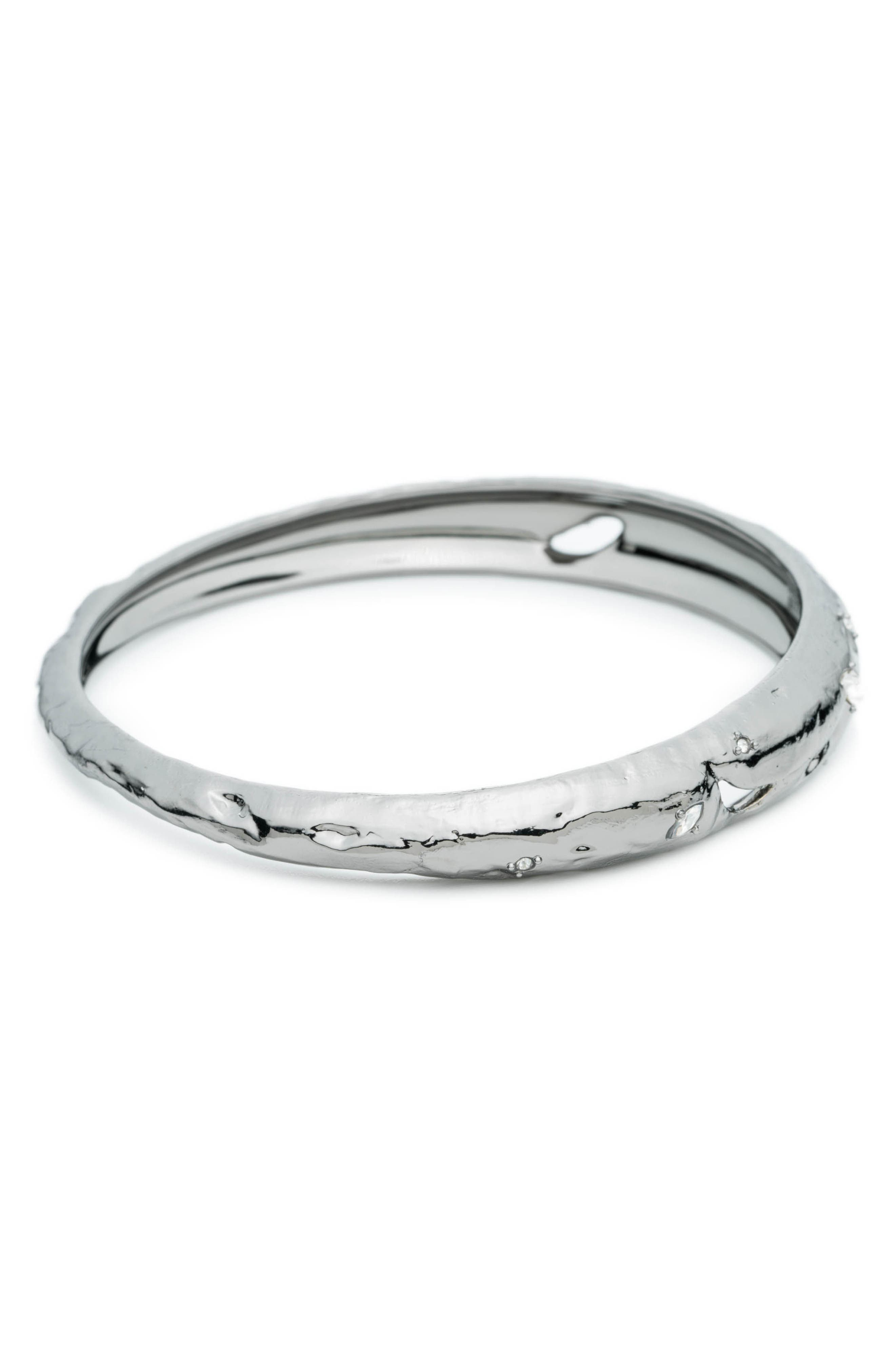 Crystal Elements Bangle,                             Alternate thumbnail 3, color,                             SILVER