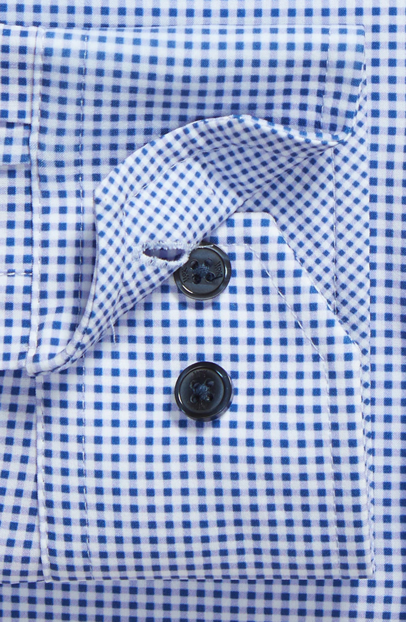 Trim Fit Check 4-Way Stretch Dress Shirt,                             Alternate thumbnail 6, color,                             LILAC