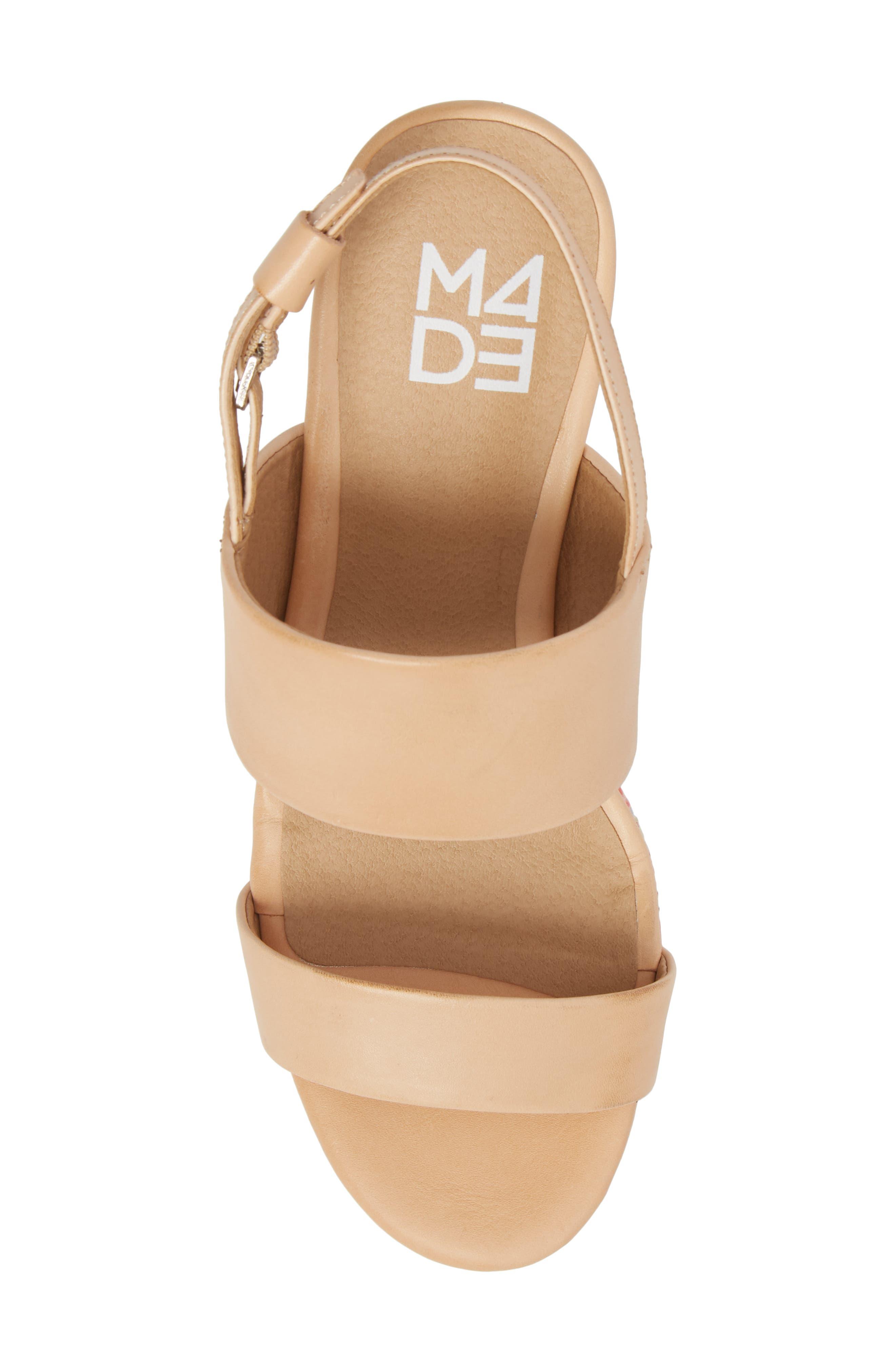 M4D3 Richmond Platform Sandal,                             Alternate thumbnail 5, color,                             NATURAL LEATHER