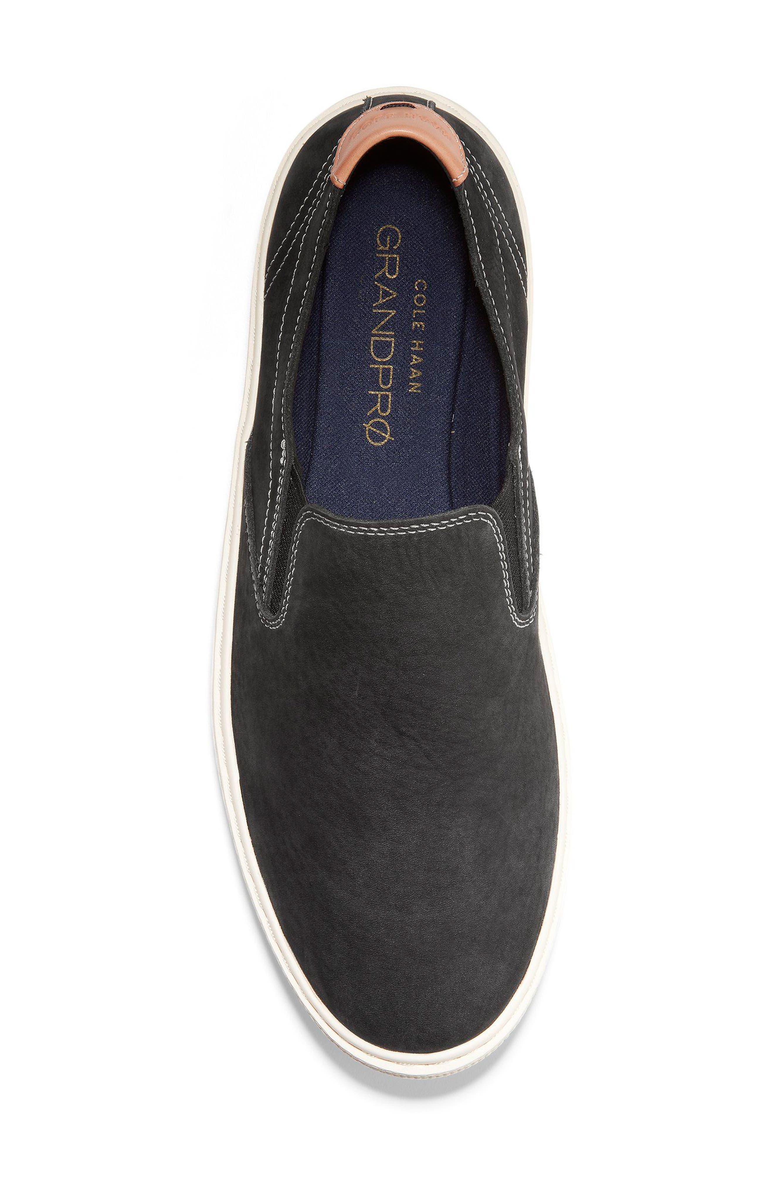 GrandPrø Deck Slip-On Sneaker,                             Alternate thumbnail 5, color,                             BLACK NUBUCK