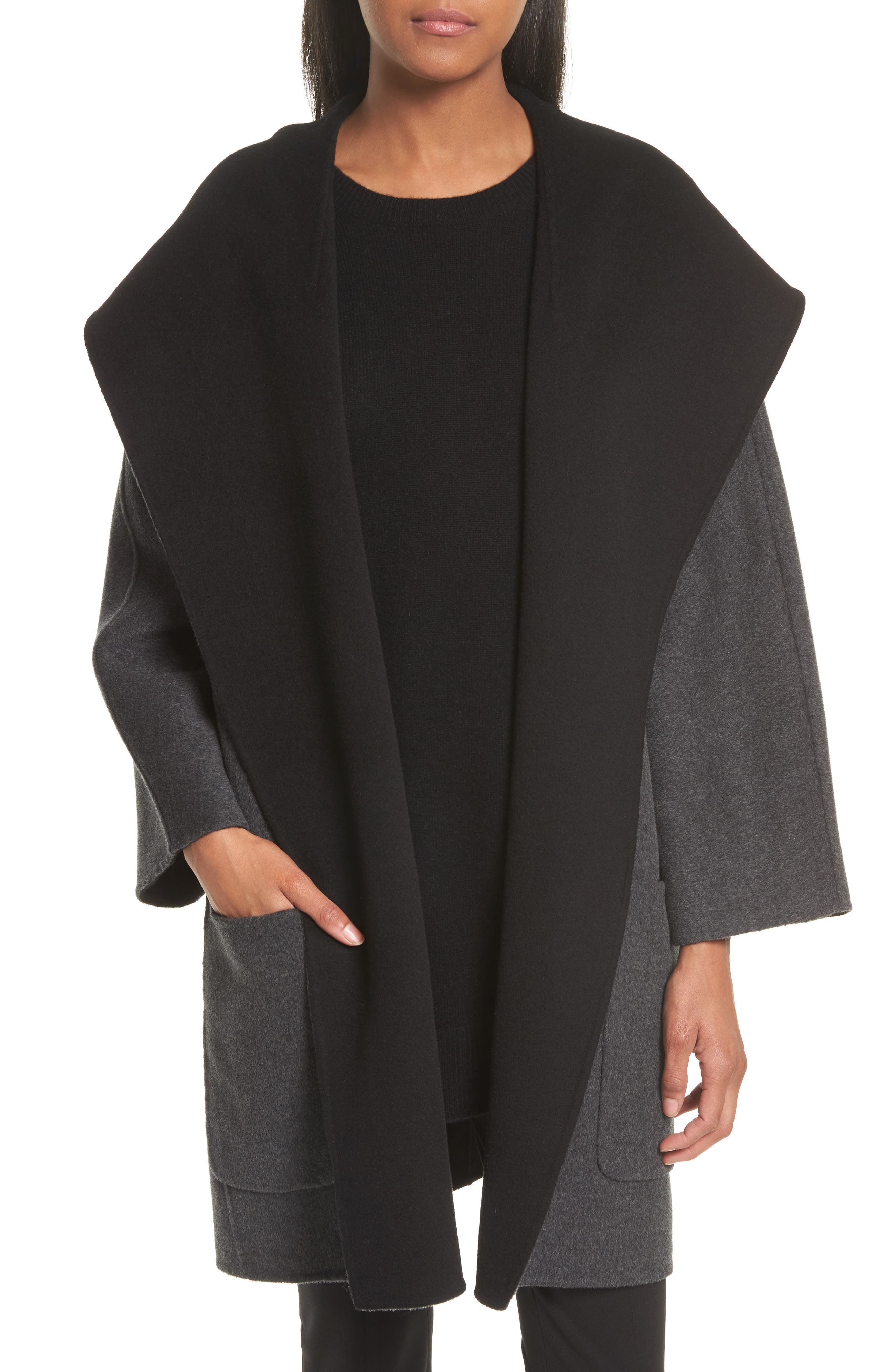 Double Face Wool & Cashmere Coat,                         Main,                         color, 060