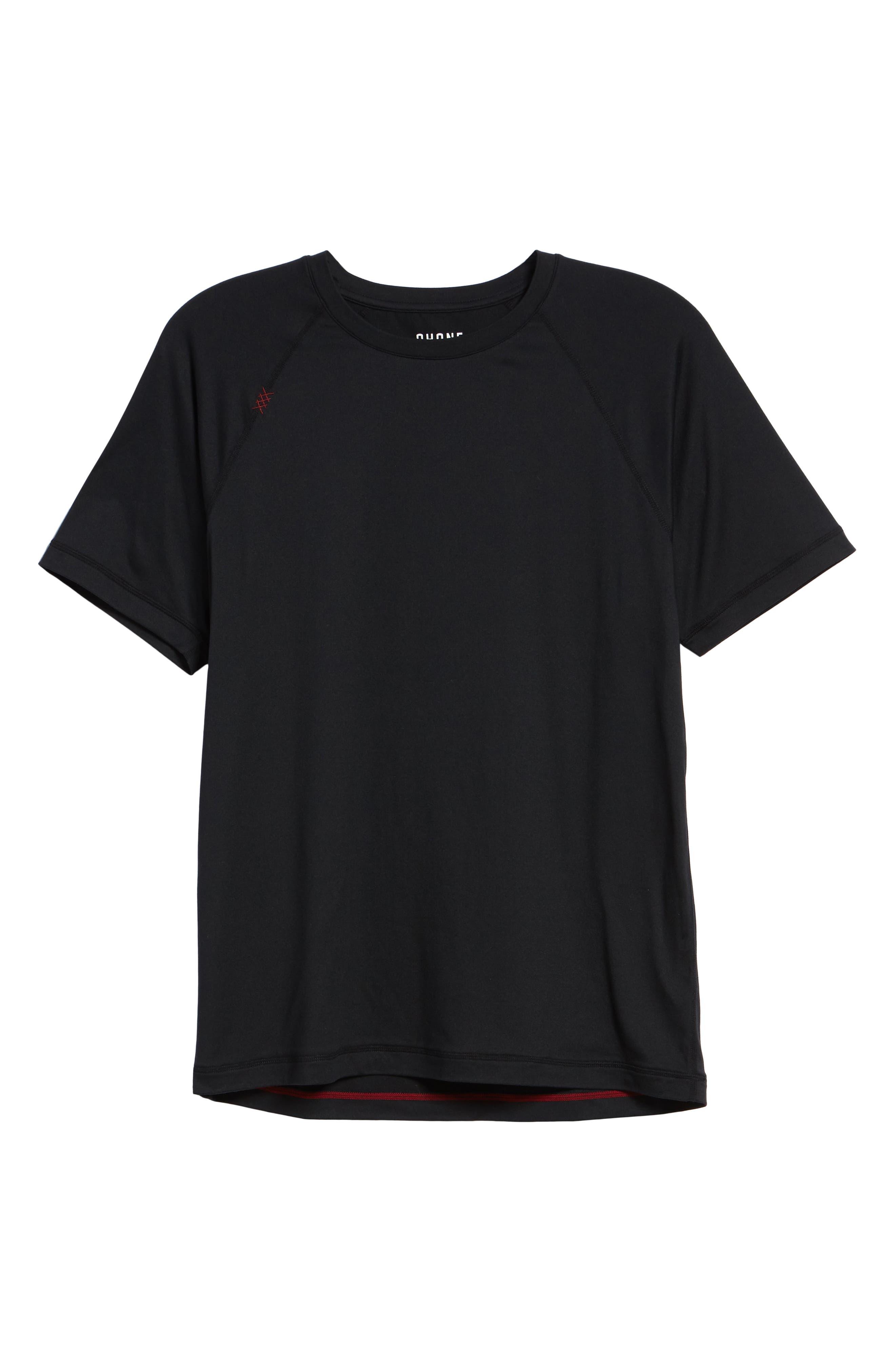 Reign Performance T-Shirt,                             Alternate thumbnail 6, color,                             BLACK