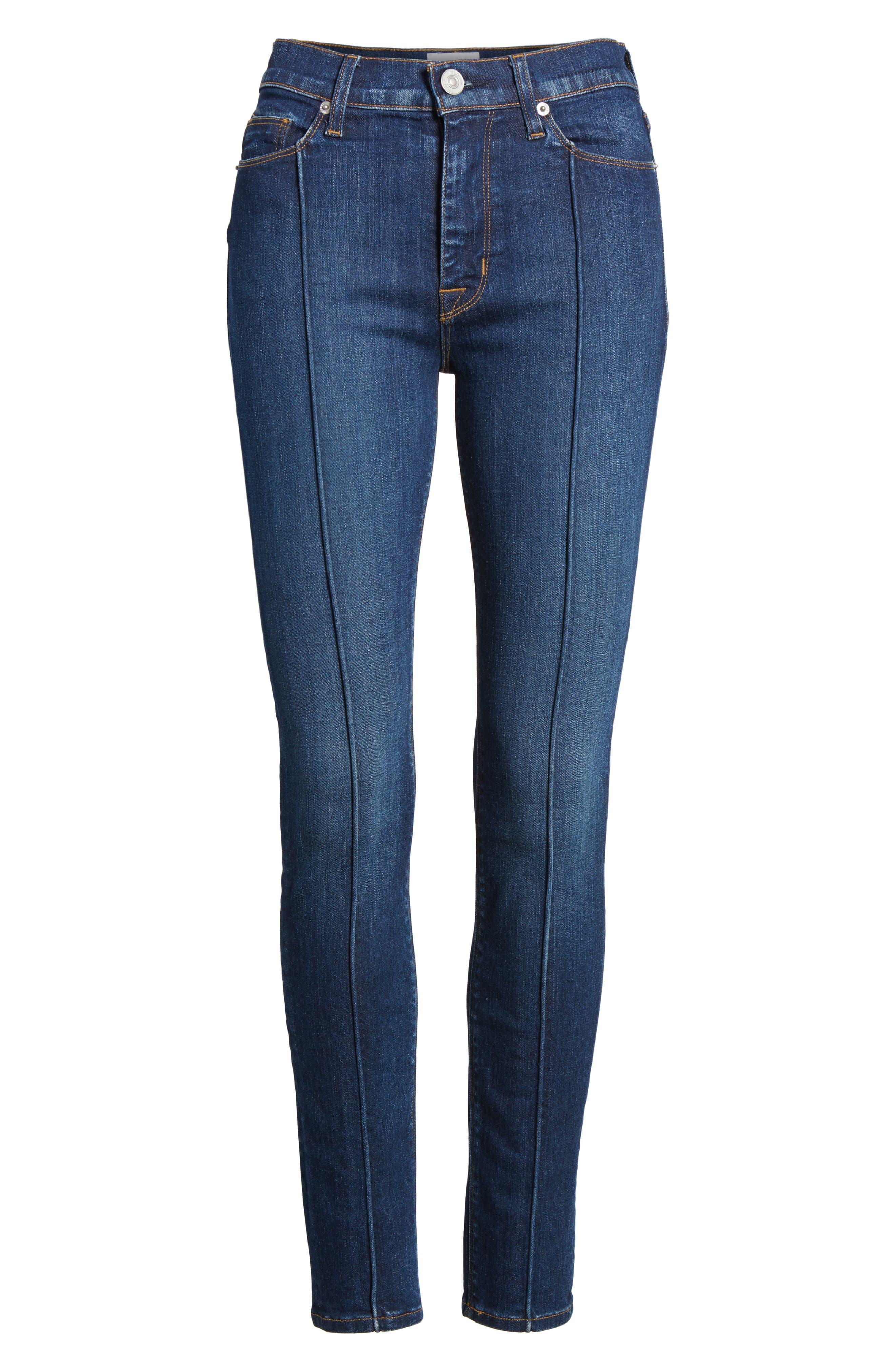 Barbara Pintuck Super Skinny Jeans,                             Alternate thumbnail 6, color,                             401