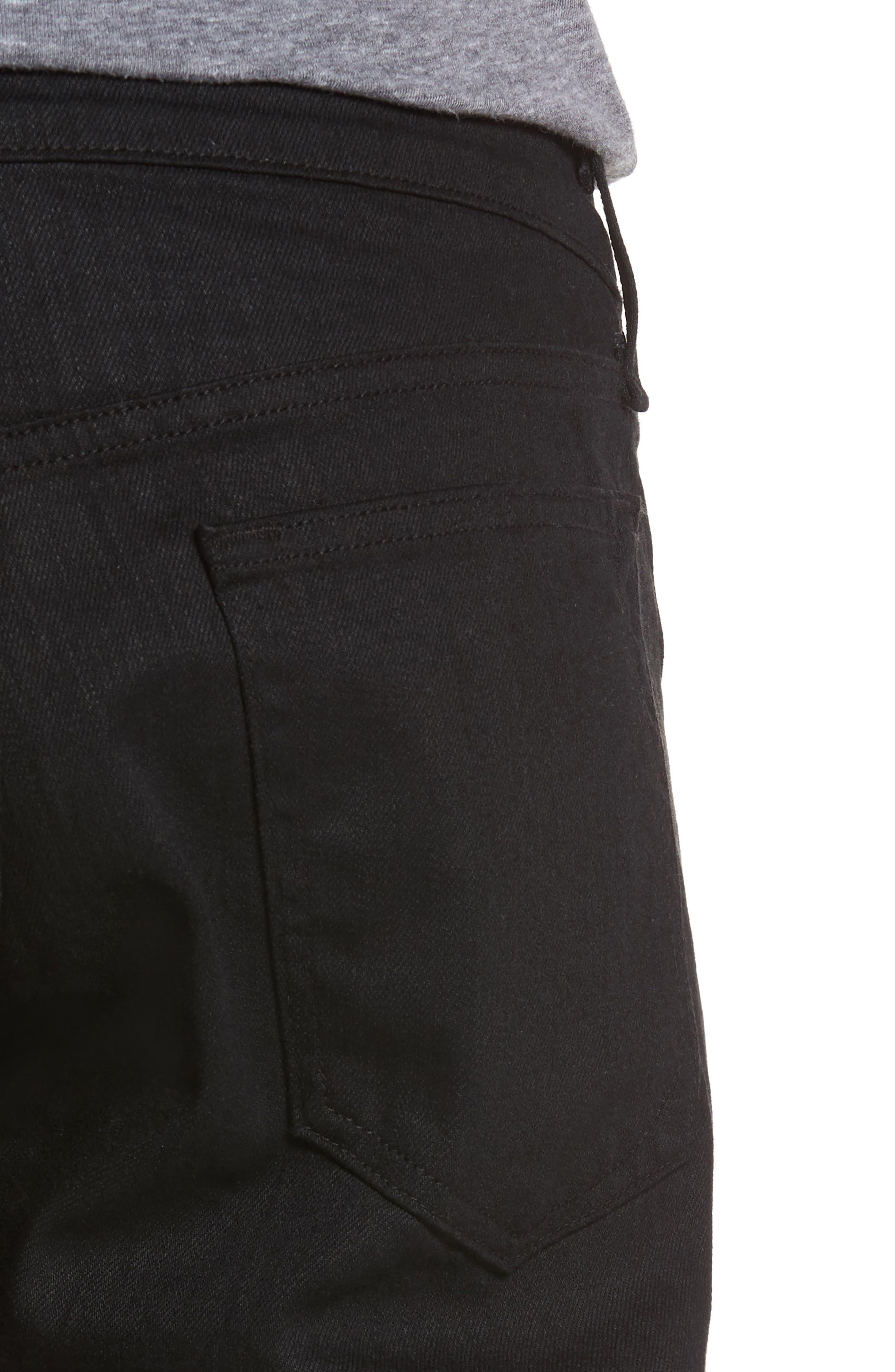 Fit 3 Slim Straight Leg Jeans,                             Alternate thumbnail 4, color,                             BLACK
