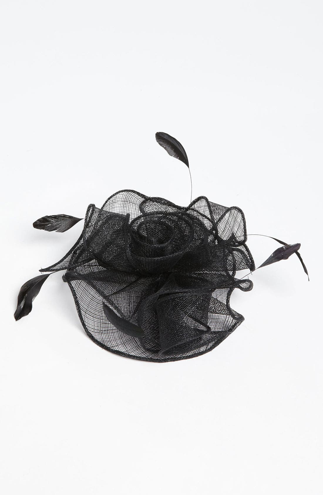 BADGLEY MISCHKA COLLECTION,                             Badgley Mischka Flower Fascinator,                             Main thumbnail 1, color,                             001