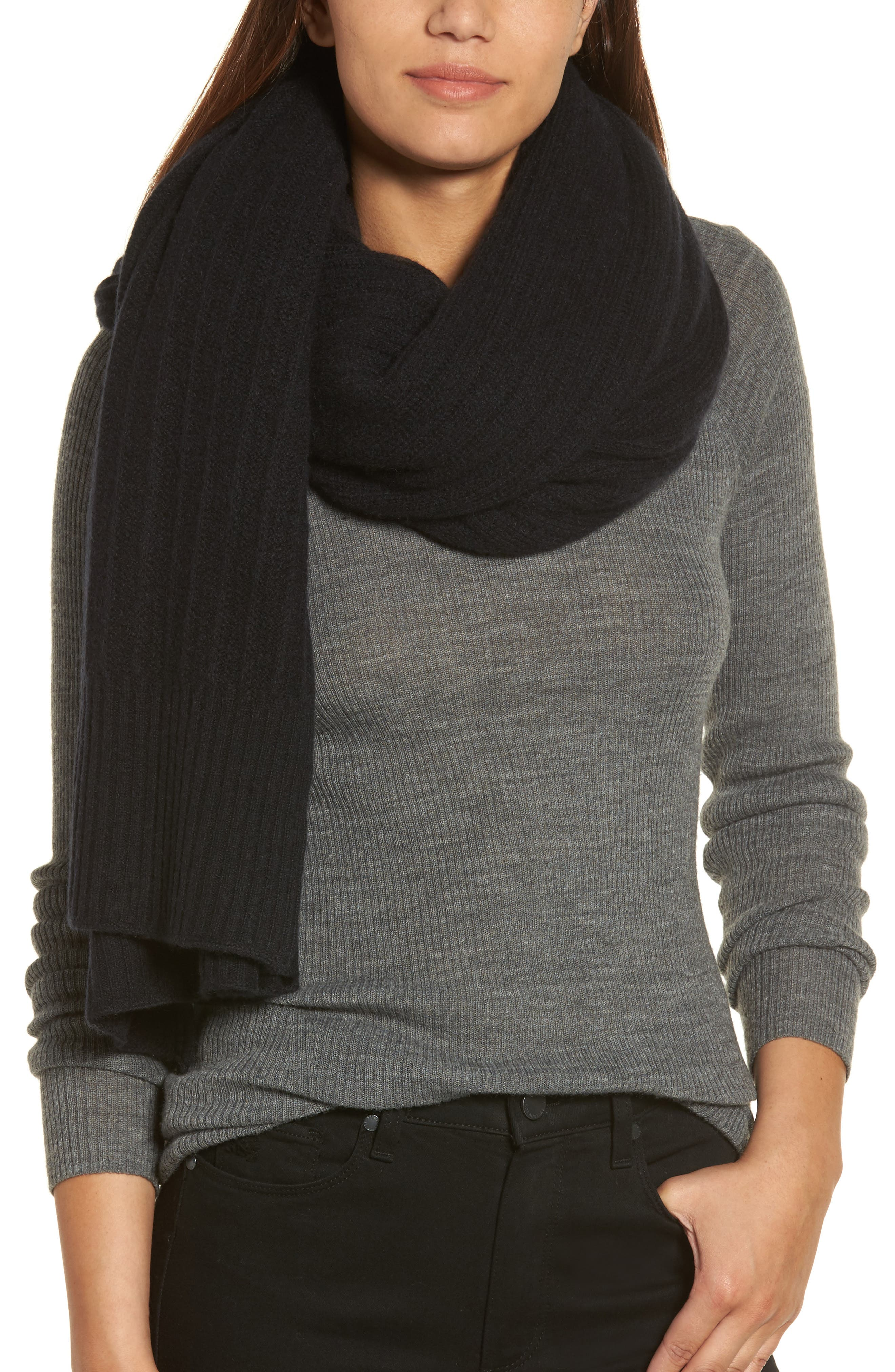 Cashmere Wrap,                             Alternate thumbnail 4, color,                             001
