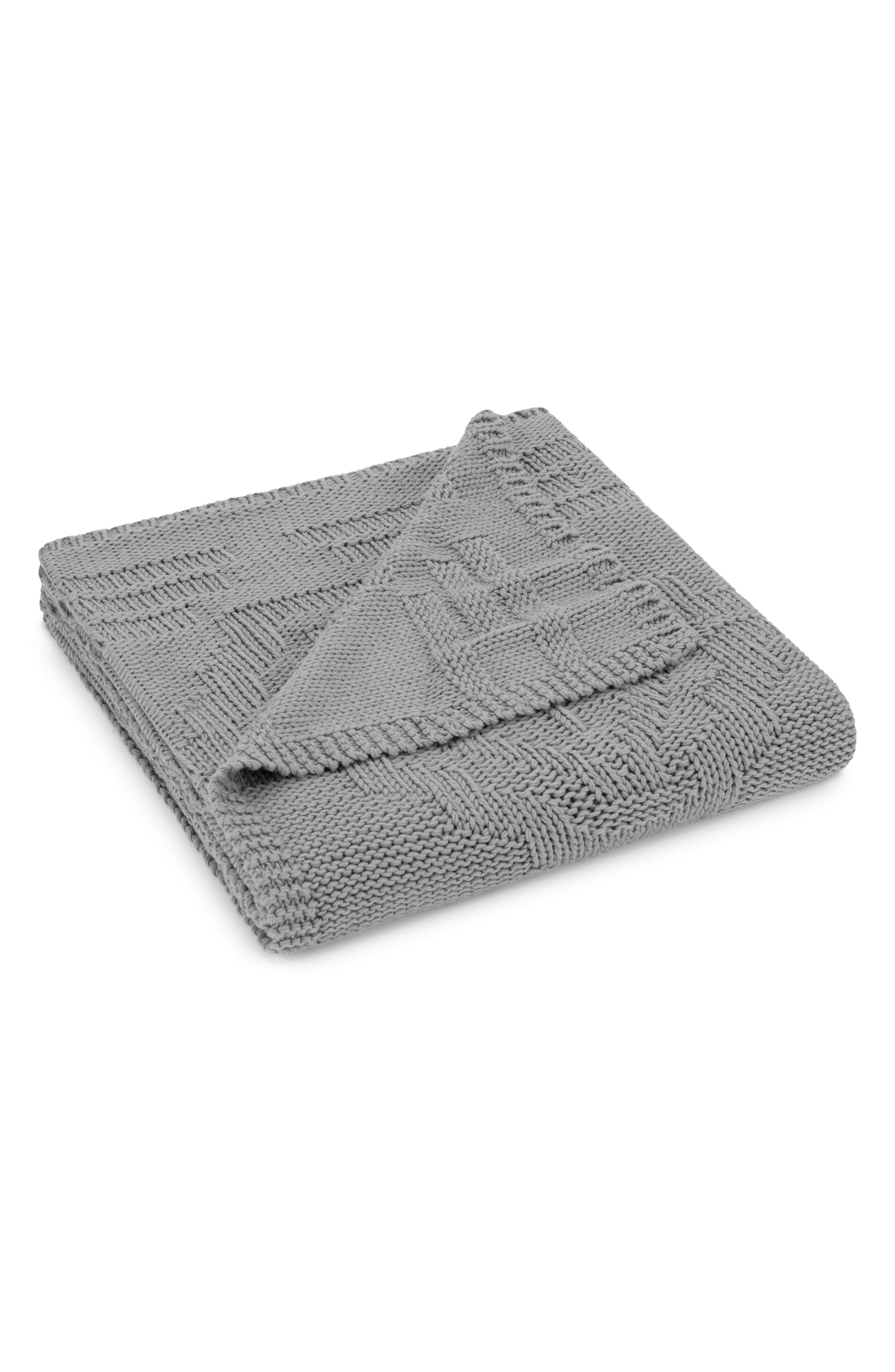 Santa Clara Knit Throw,                         Main,                         color, GRAY