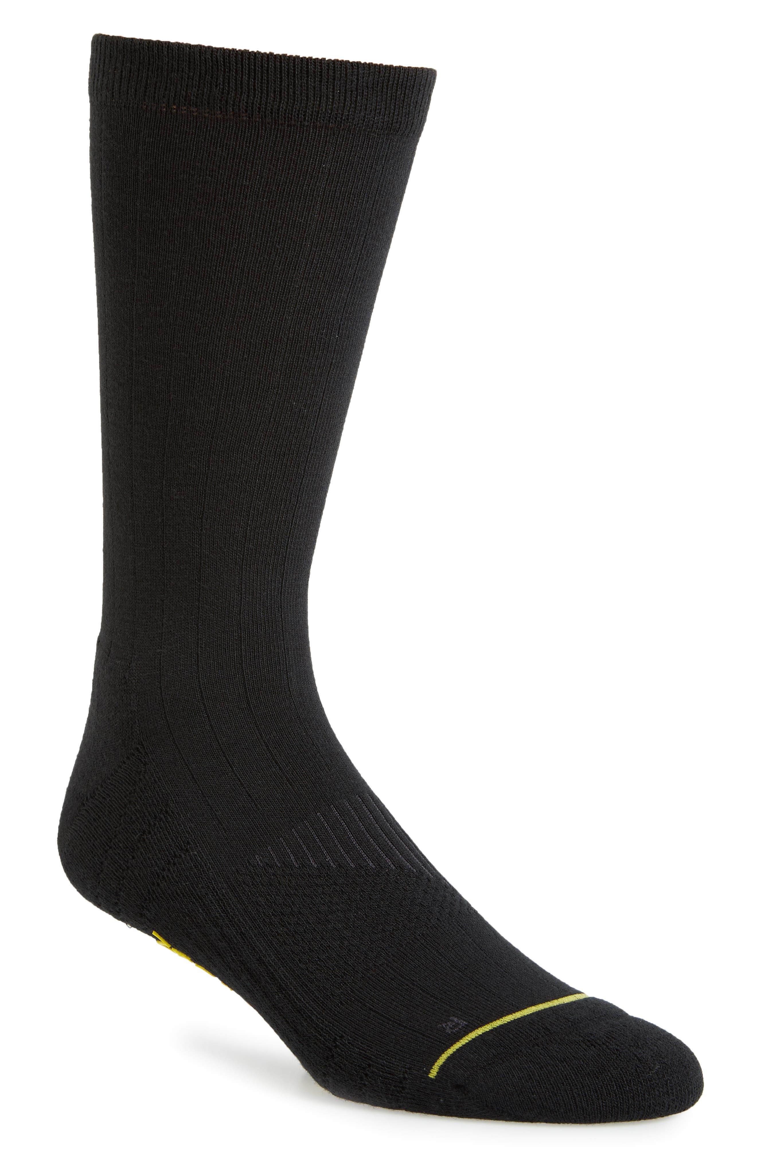 ZeroGrand Ribbed Crew Socks,                             Main thumbnail 1, color,                             001