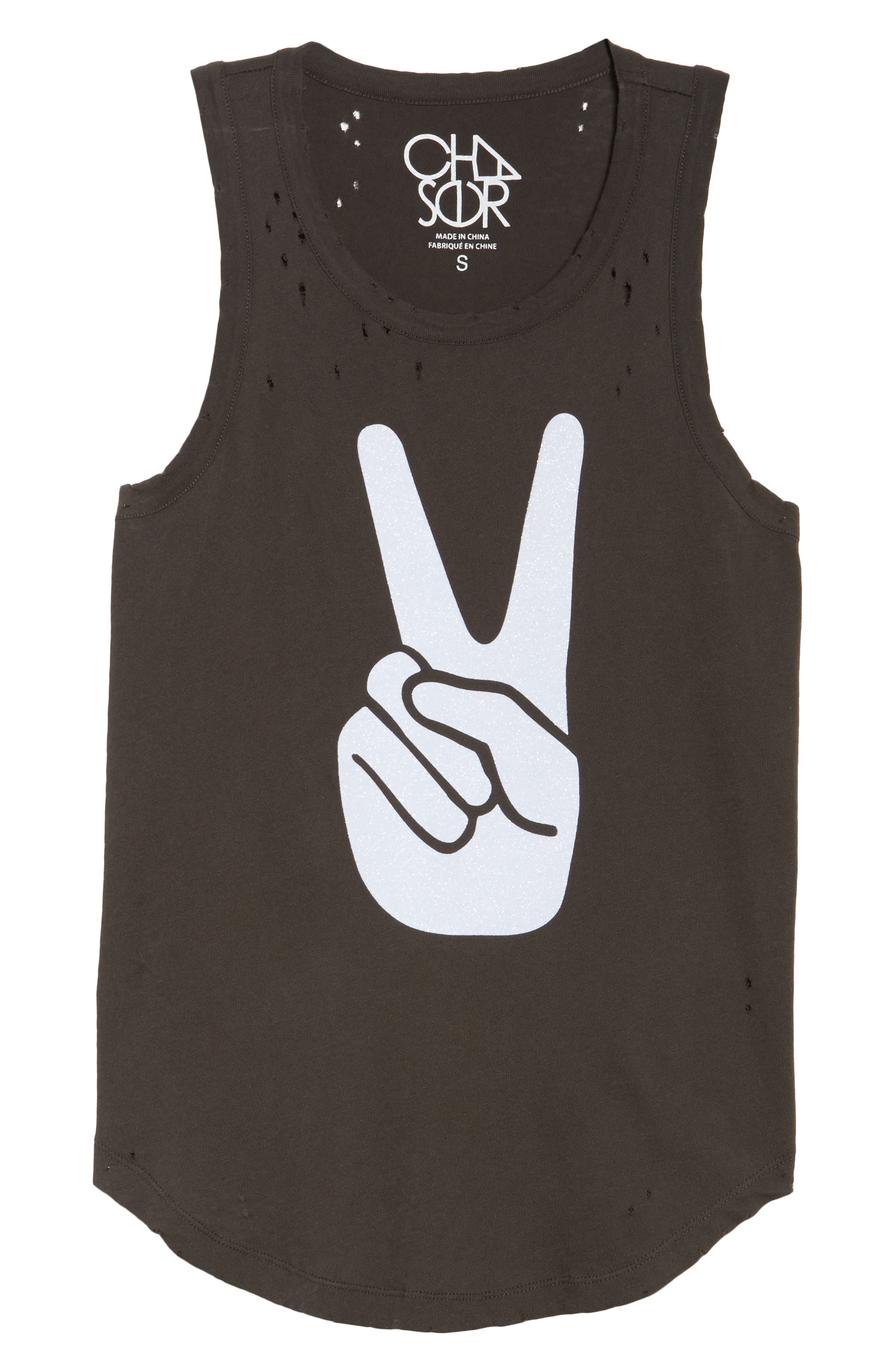 Destroyed Muscle Tank,                             Alternate thumbnail 6, color,