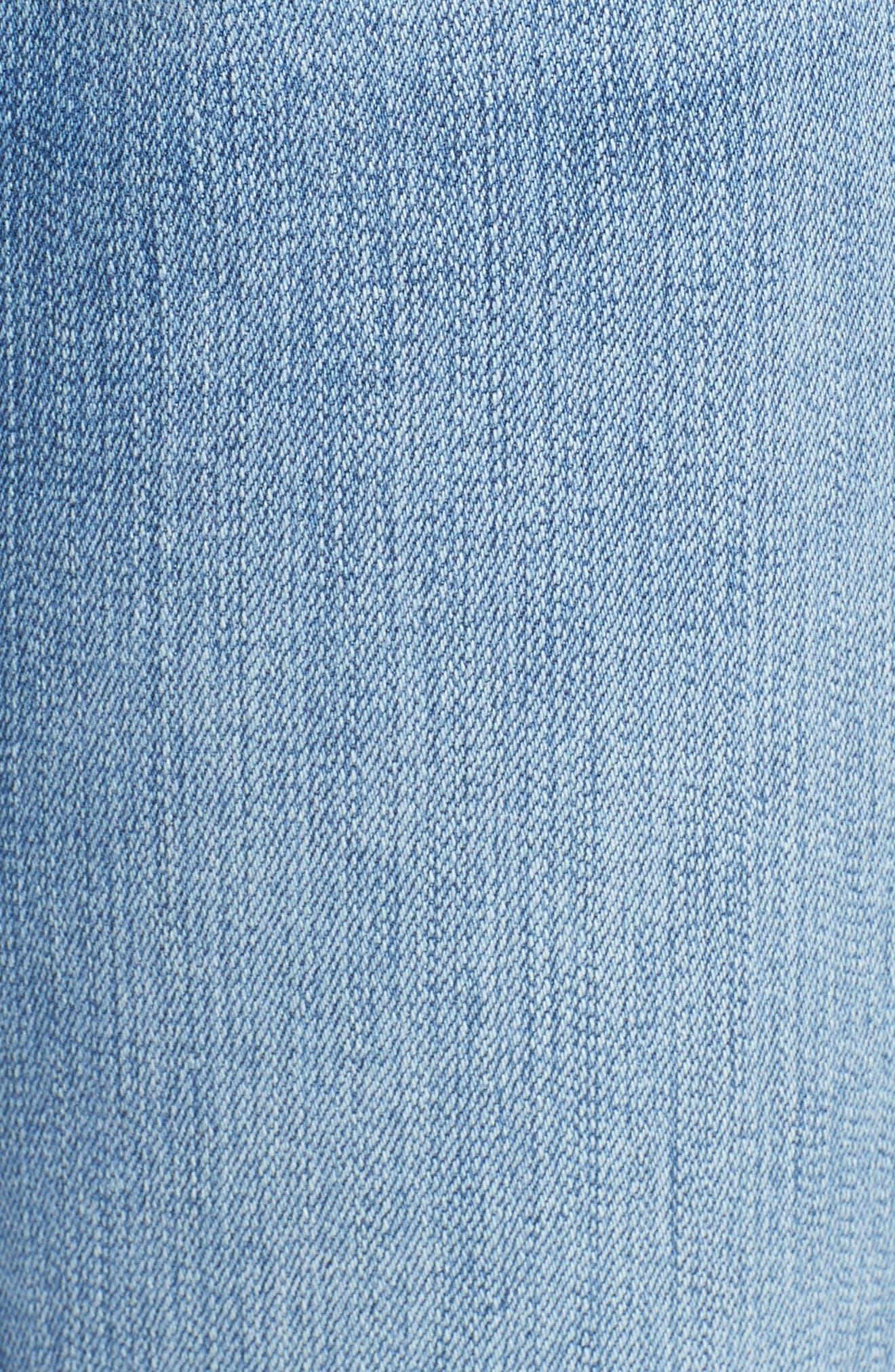 Le High Skinny Cascade Hem Jeans,                             Alternate thumbnail 5, color,                             420