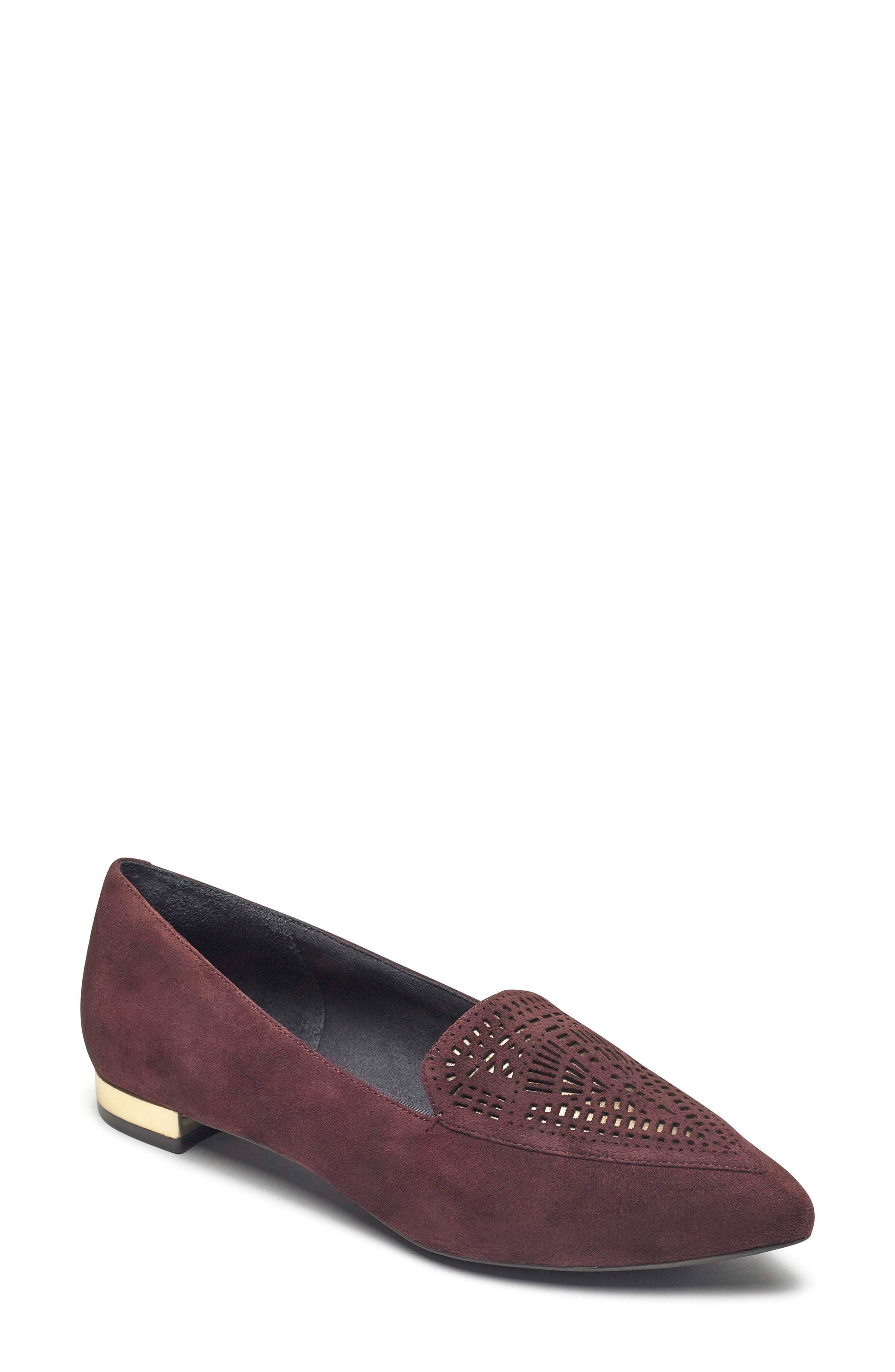Total Motion Adelyn Loafer,                             Main thumbnail 1, color,                             MAROON