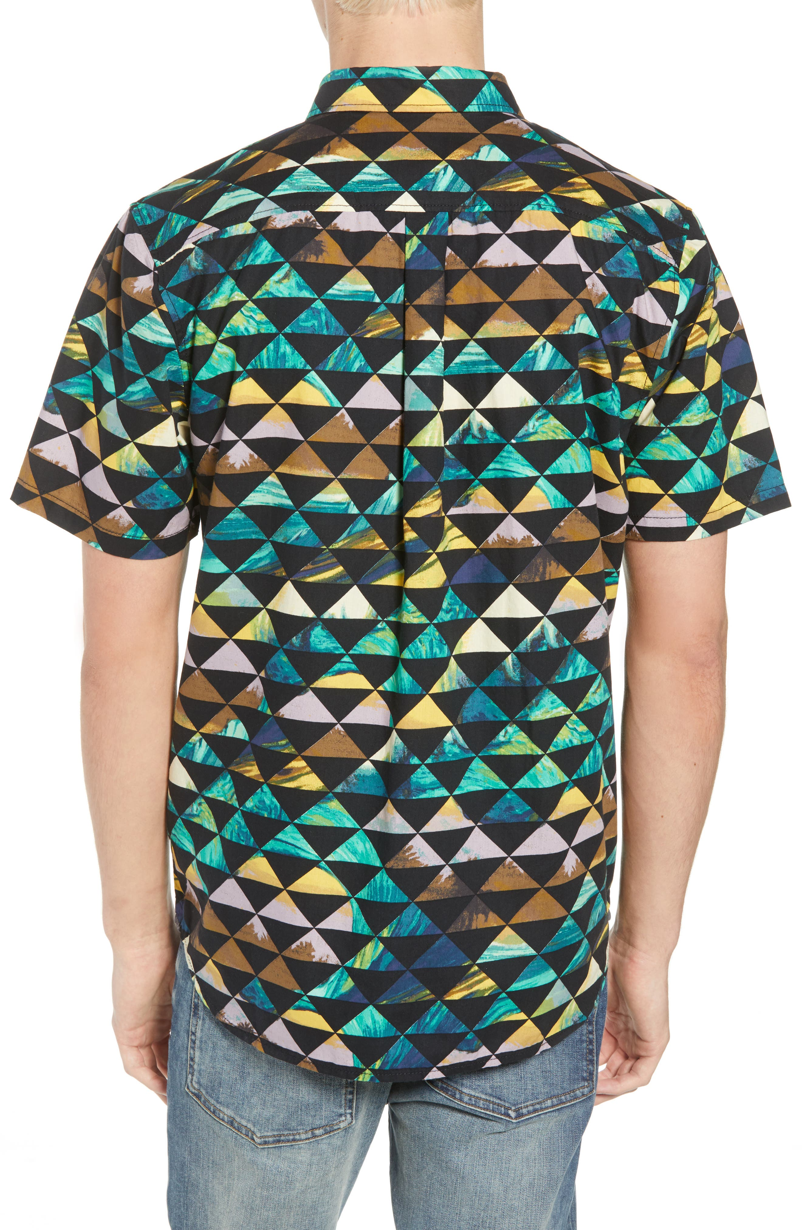 2018 VTCS Aloha Print Woven Shirt,                             Alternate thumbnail 2, color,                             001