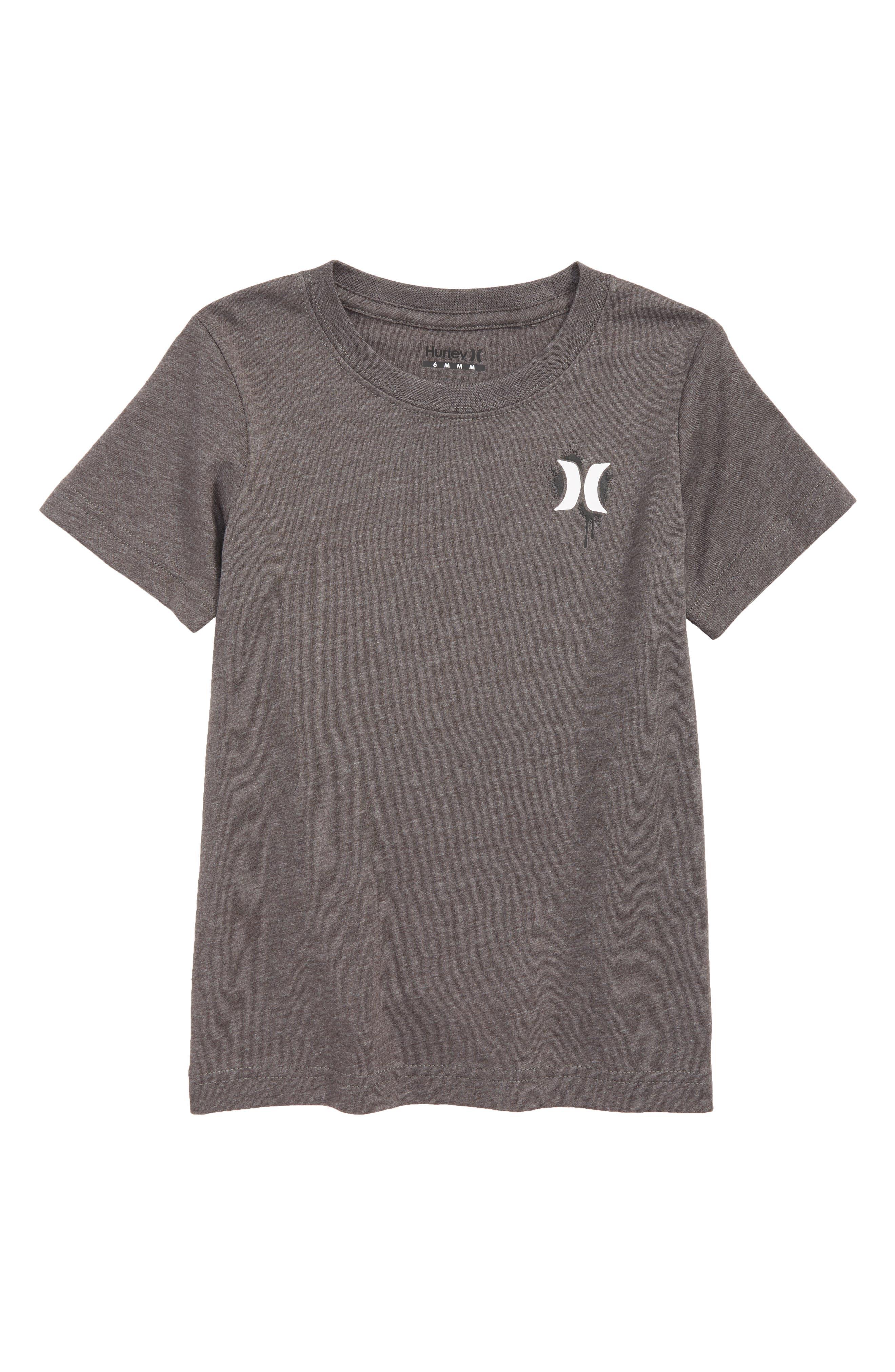 Shark T-Shirt,                         Main,                         color, CHARCOAL HEATHER