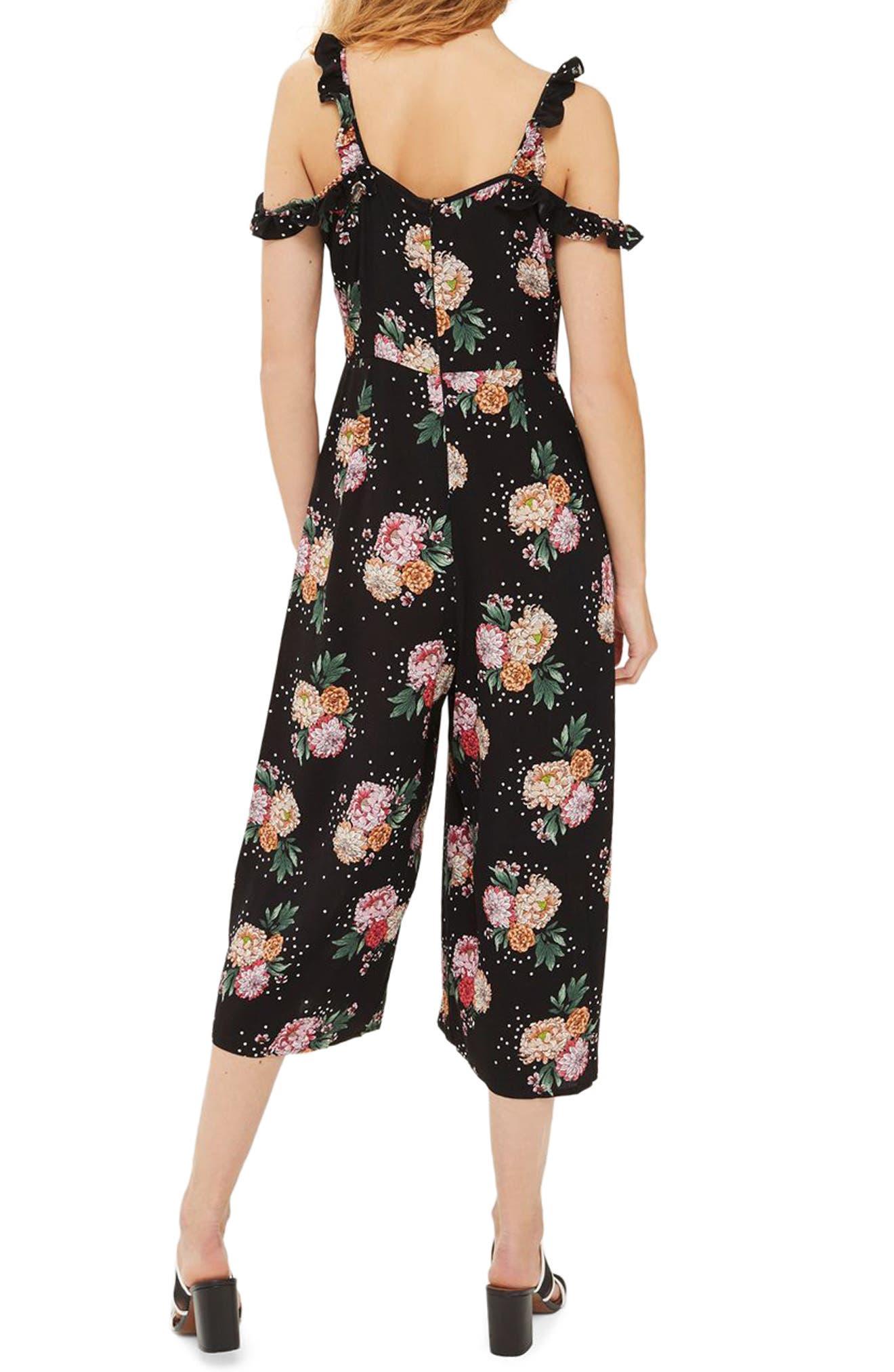 Floral Ruffle Jumpsuit,                             Alternate thumbnail 2, color,