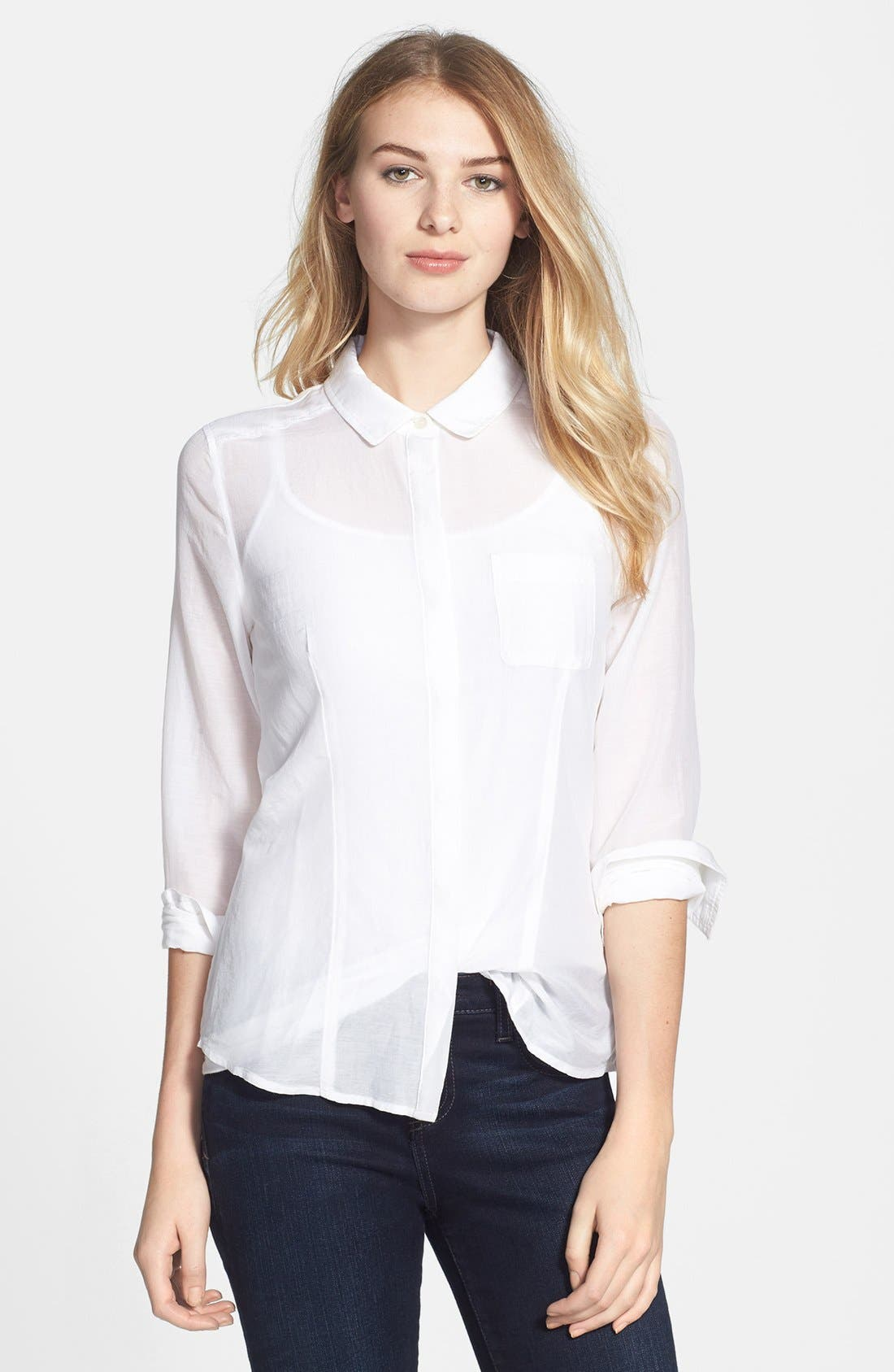 Cotton & Silk Shirt,                             Main thumbnail 11, color,