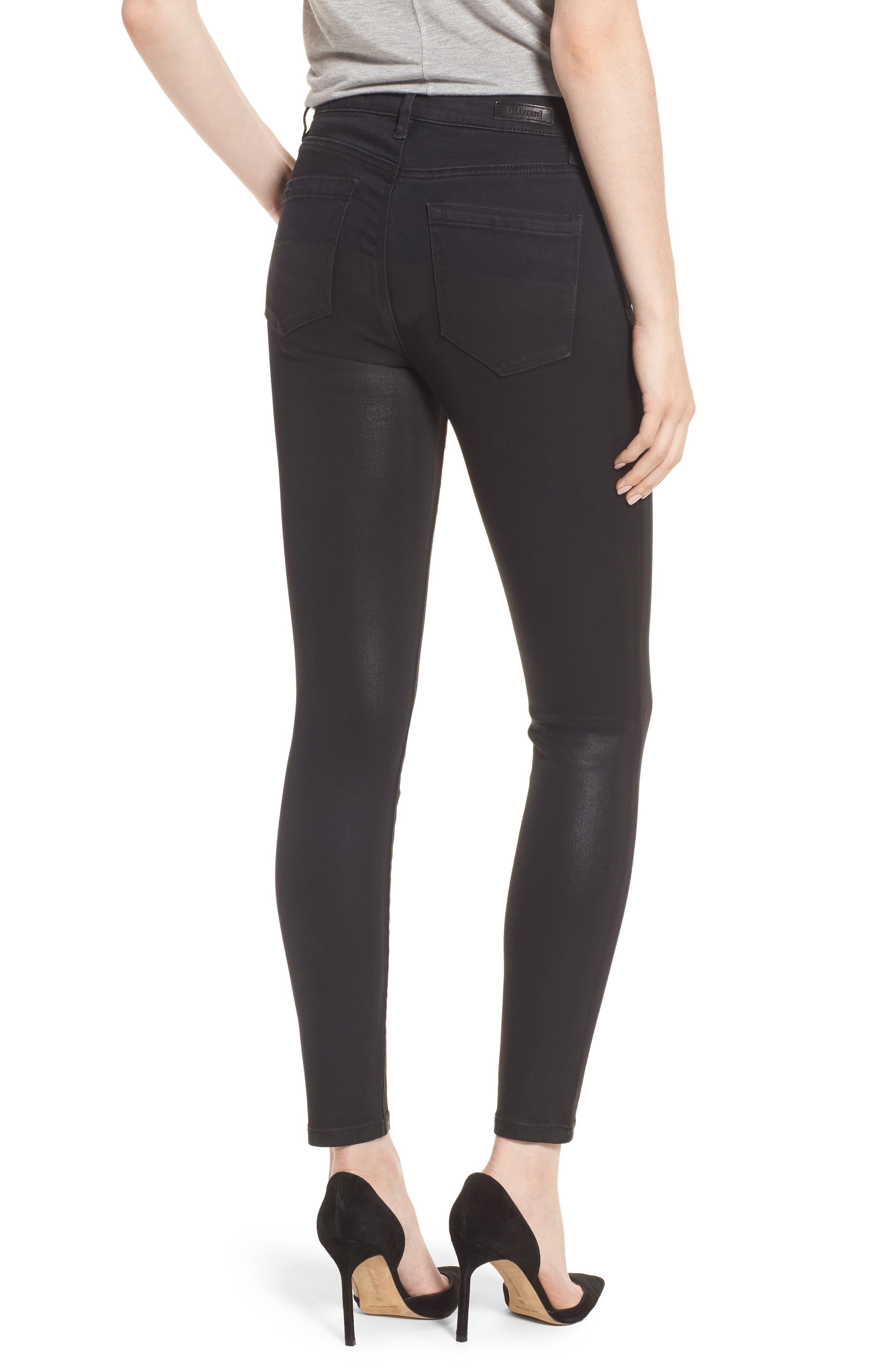 Black Jack Lace-Up Skinny Jeans,                             Alternate thumbnail 2, color,
