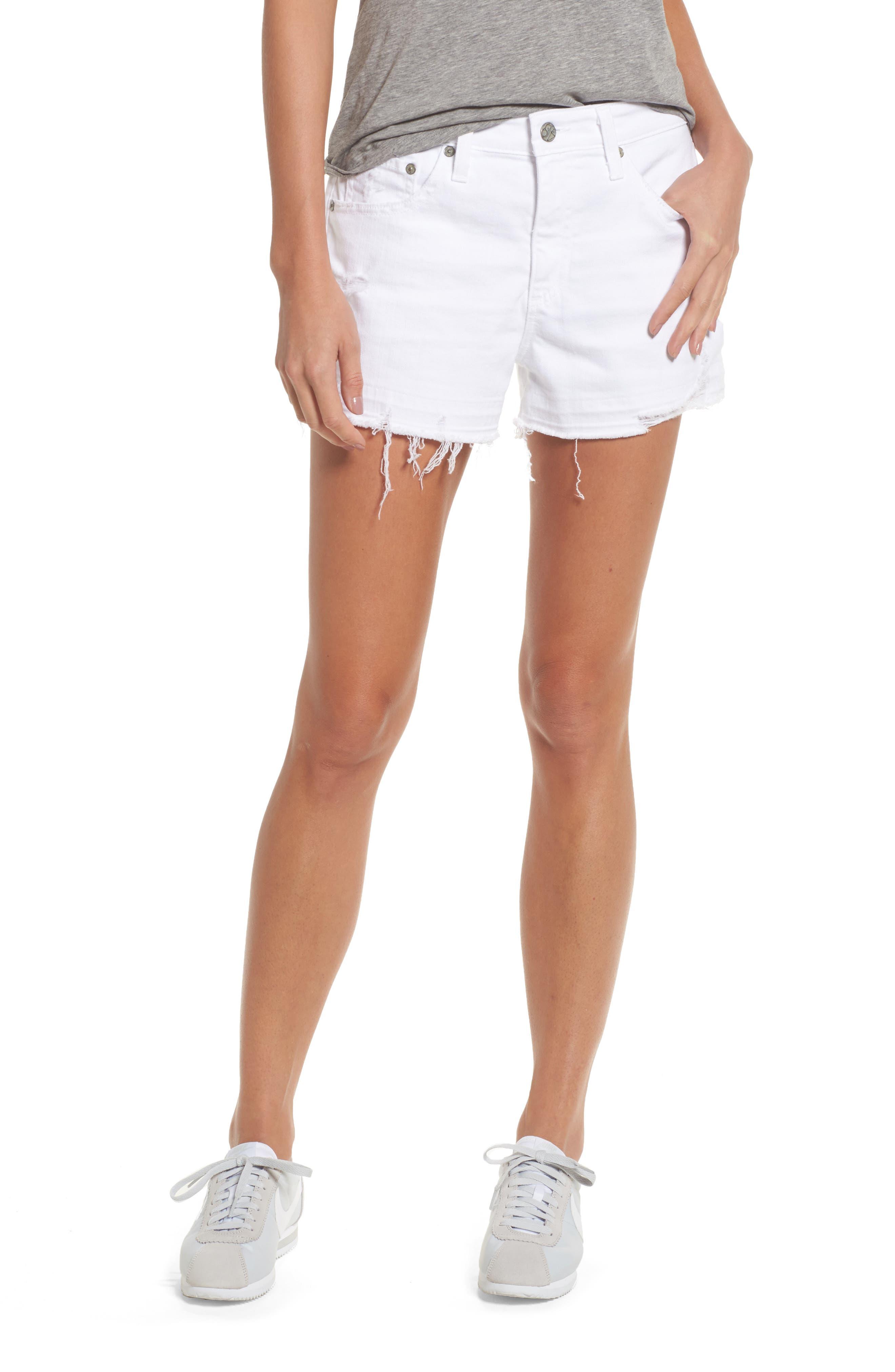 Bryn High Rise Cutoff Denim Shorts,                         Main,                         color, 158
