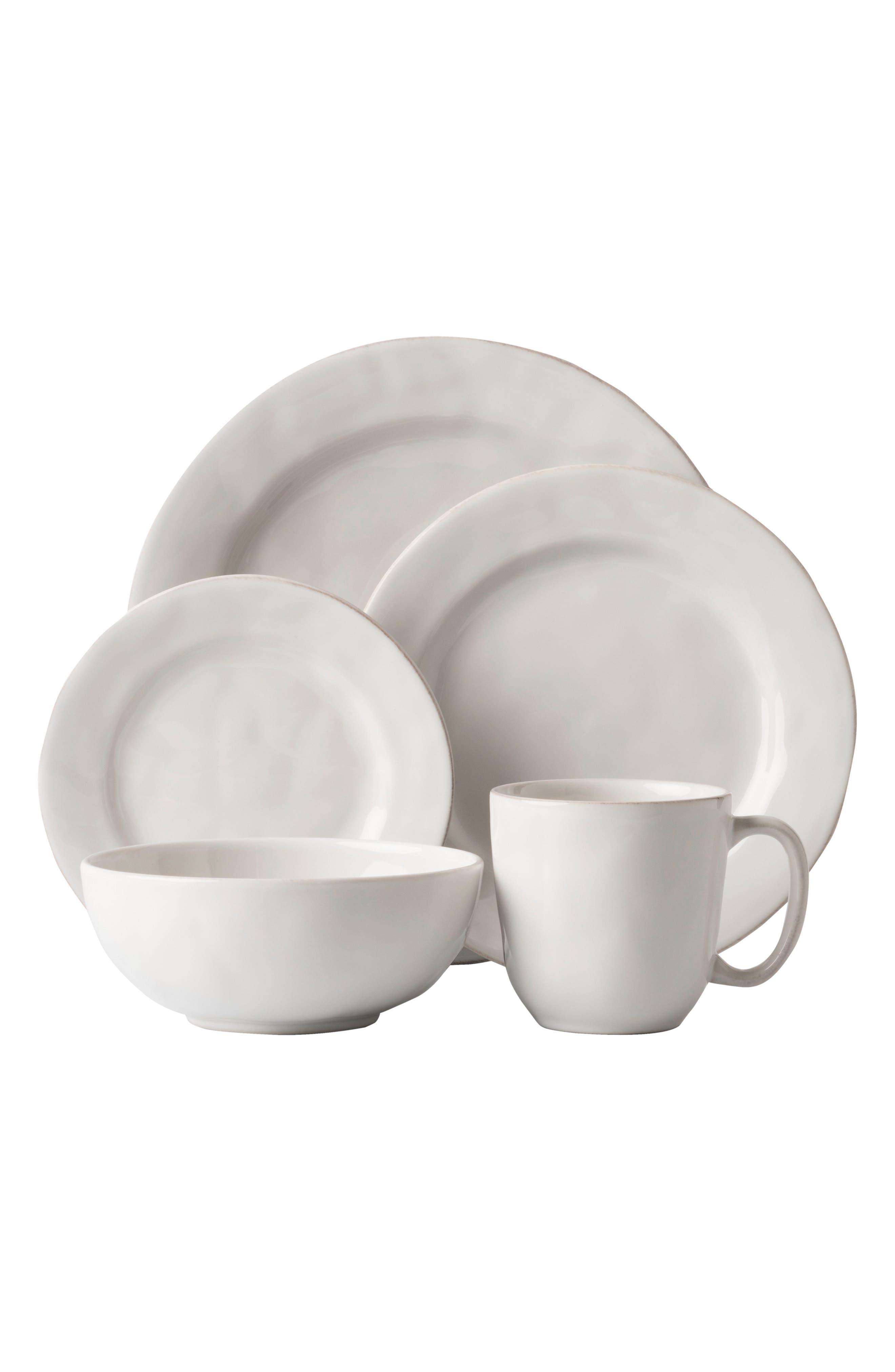 'Puro' 5-Piece Dinnerware Place Setting,                             Alternate thumbnail 2, color,                             WHITE