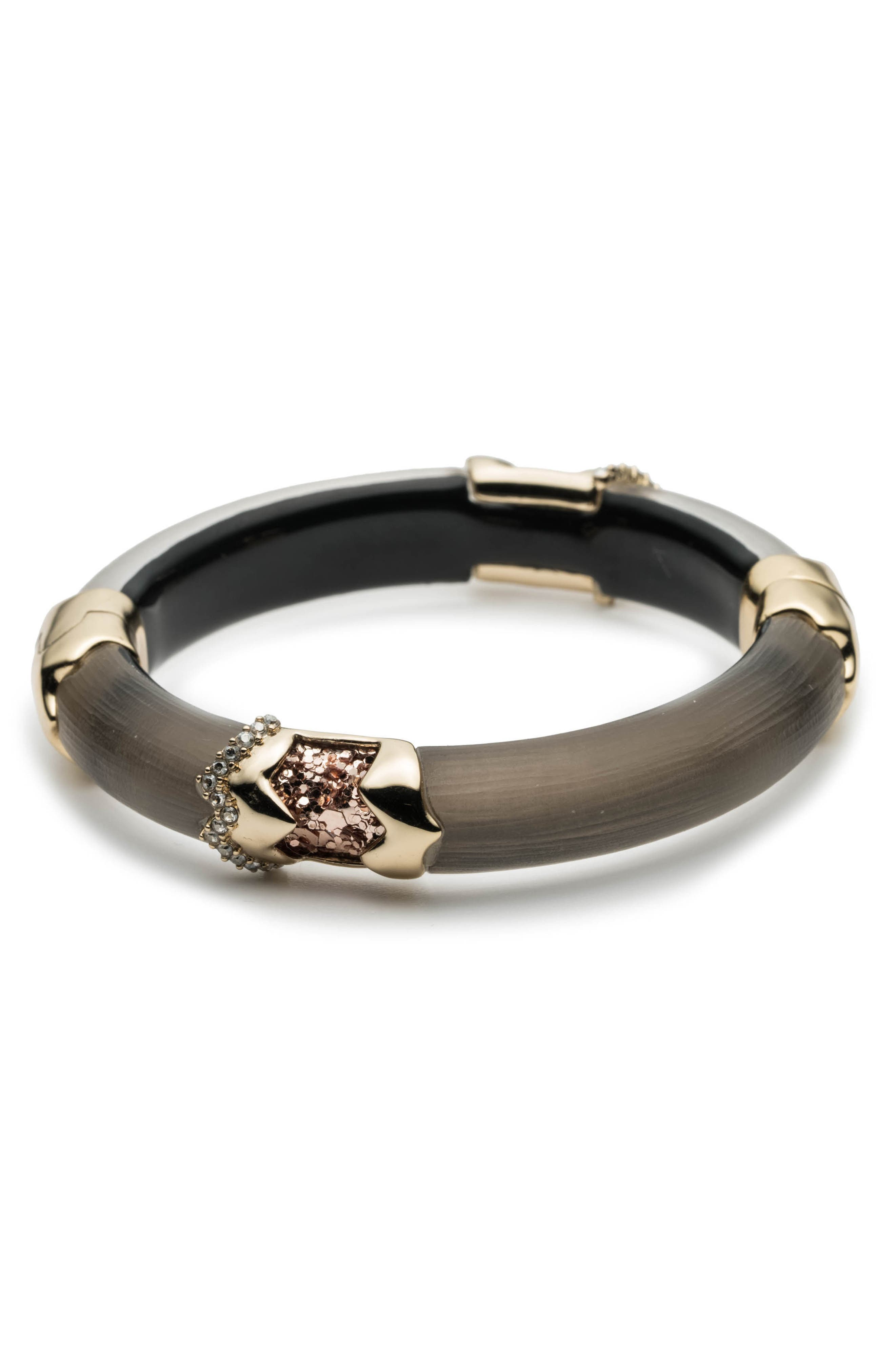 Lucite<sup>®</sup> Side Hinge Bracelet,                         Main,                         color, 020