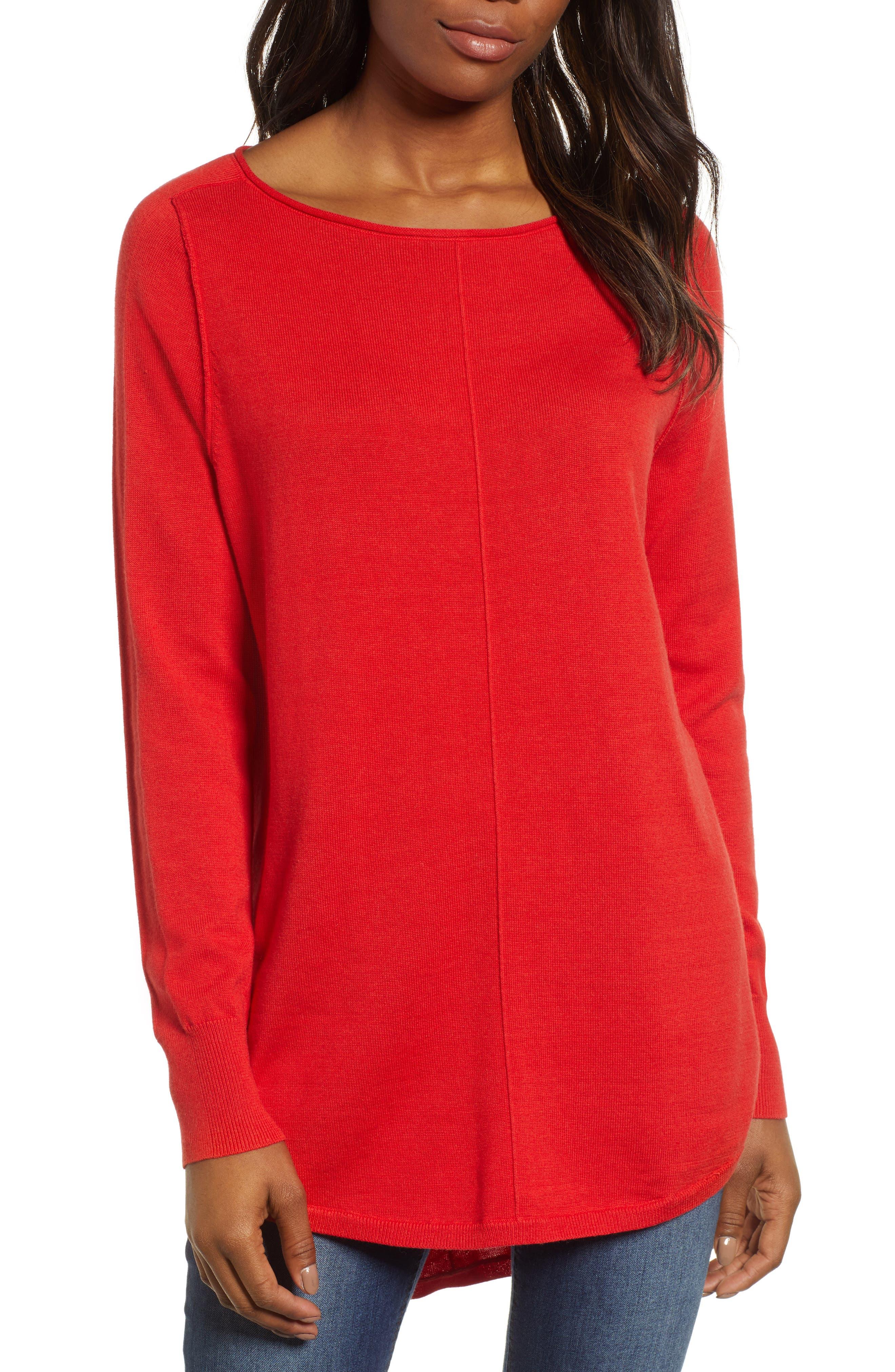 CASLON<SUP>®</SUP>,                             Seam Detail Shirttail Tunic,                             Main thumbnail 1, color,                             610