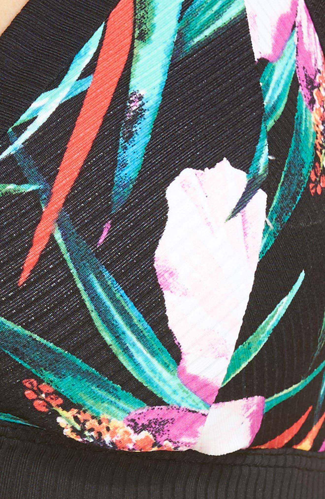 Garden Quick Dry Surf Bikini Top,                             Alternate thumbnail 5, color,                             003