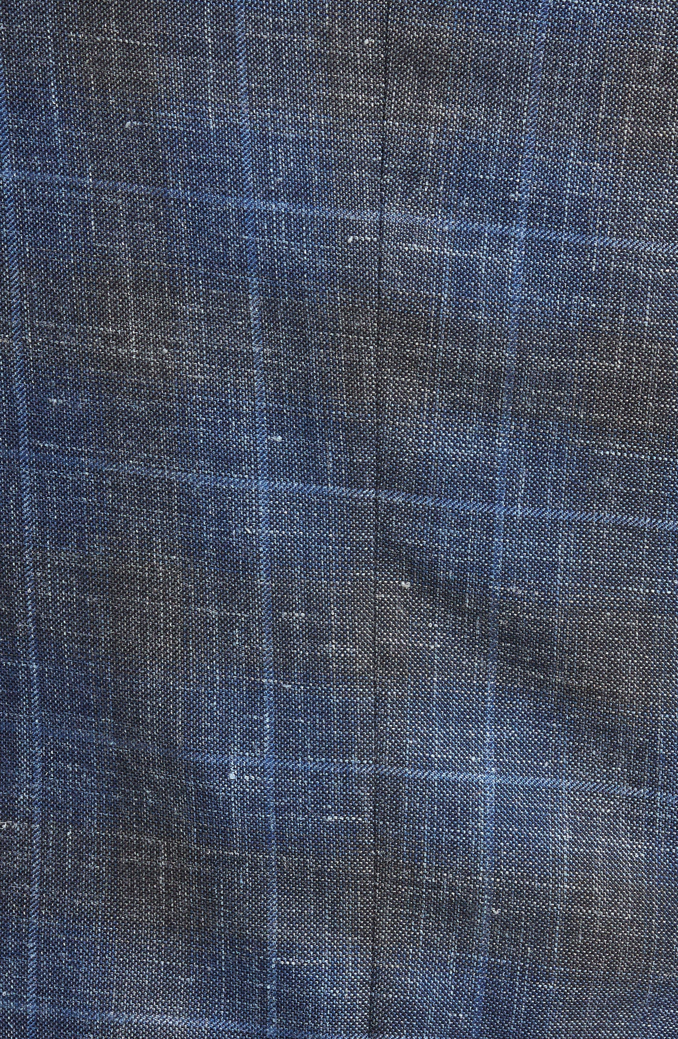 Classic Fit Plaid Wool Blend Sport Coat,                             Alternate thumbnail 6, color,                             400