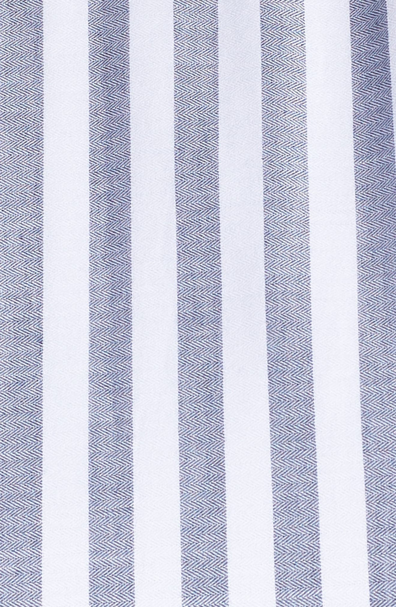 Tiered Stripe Halter Maxi Dress,                             Alternate thumbnail 6, color,                             IVORY