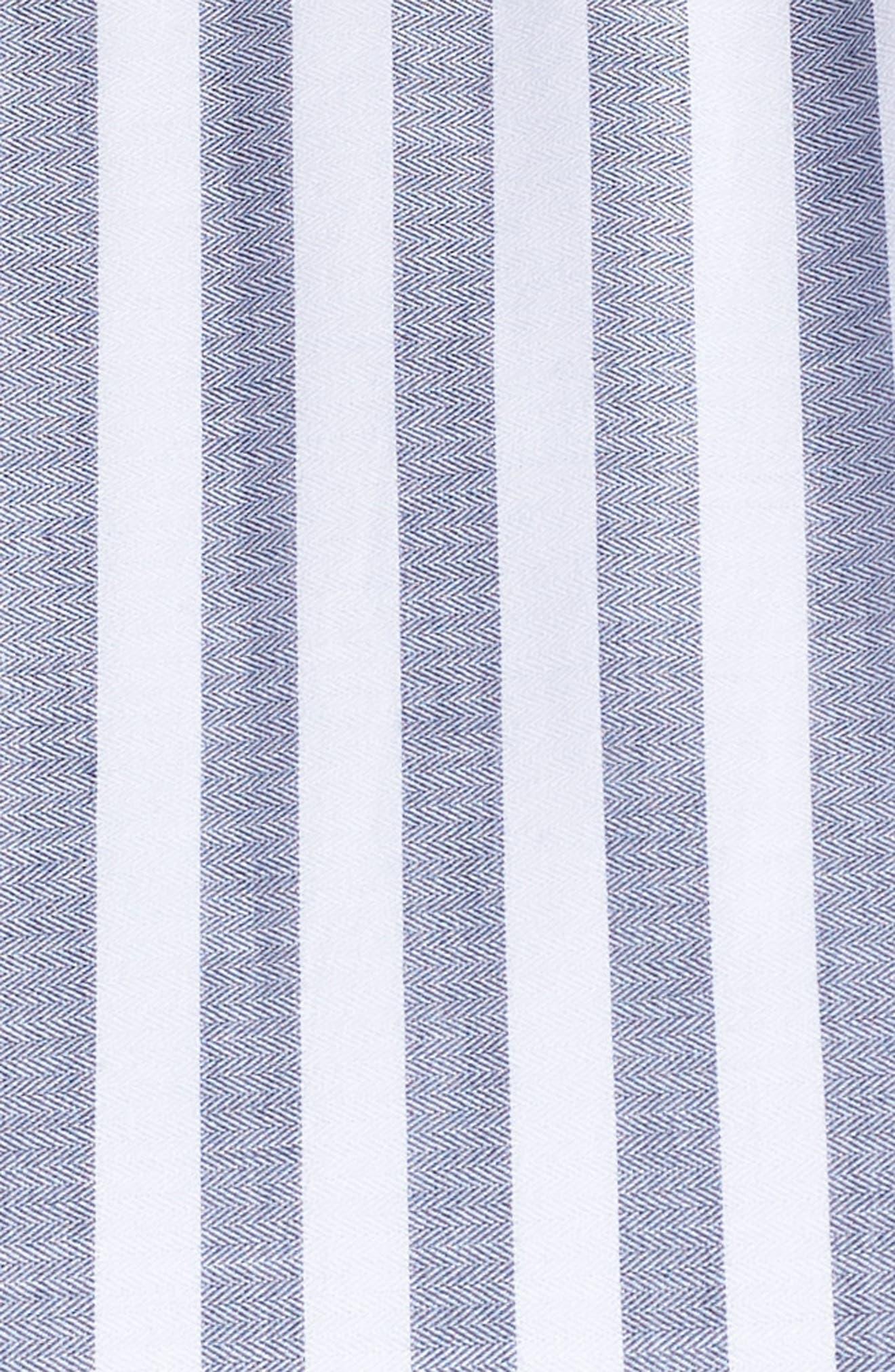 Tiered Stripe Halter Maxi Dress,                             Alternate thumbnail 6, color,                             410