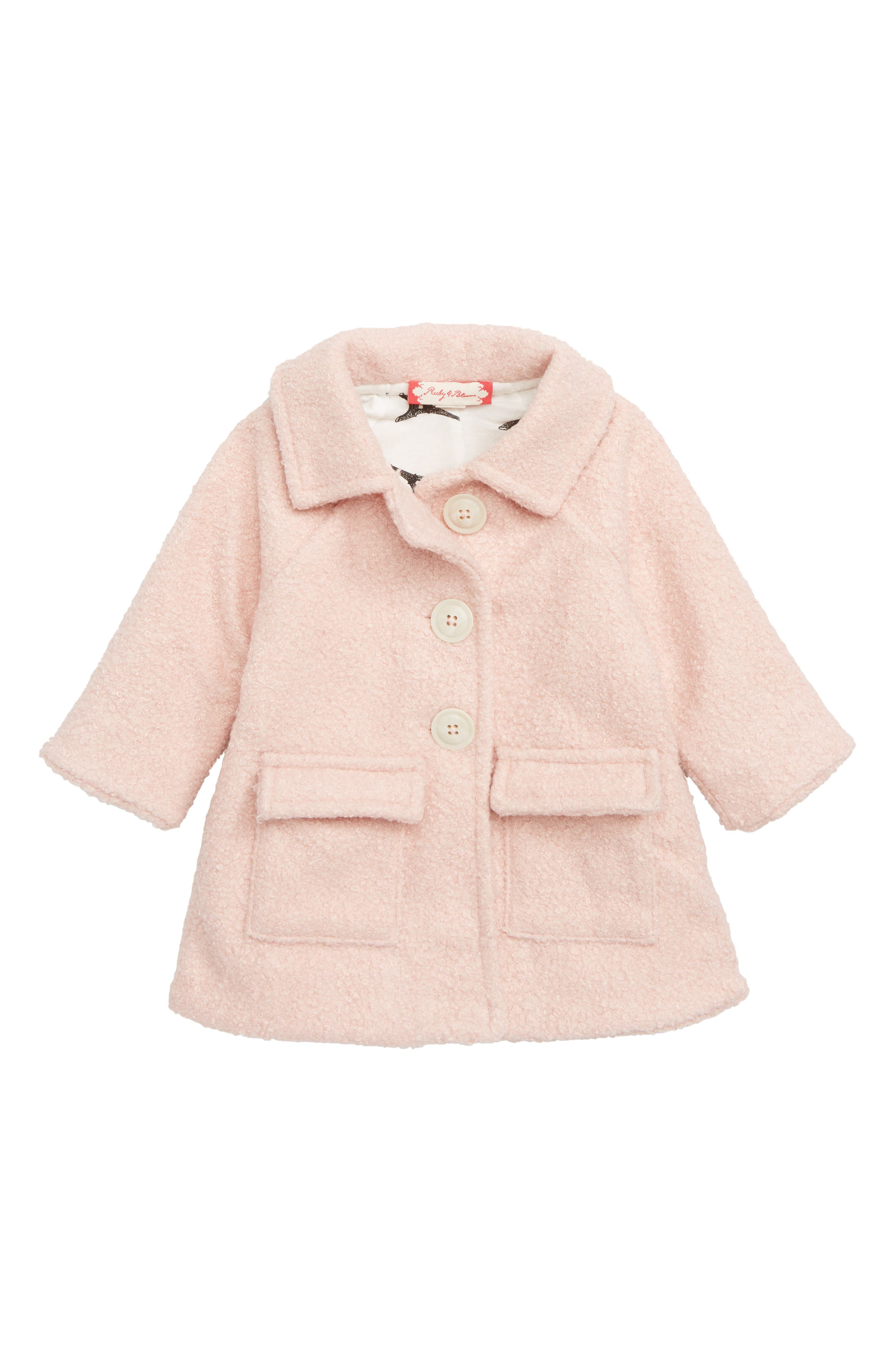 Cozy Button Down Jacket,                             Main thumbnail 1, color,                             PINK CHINTZ